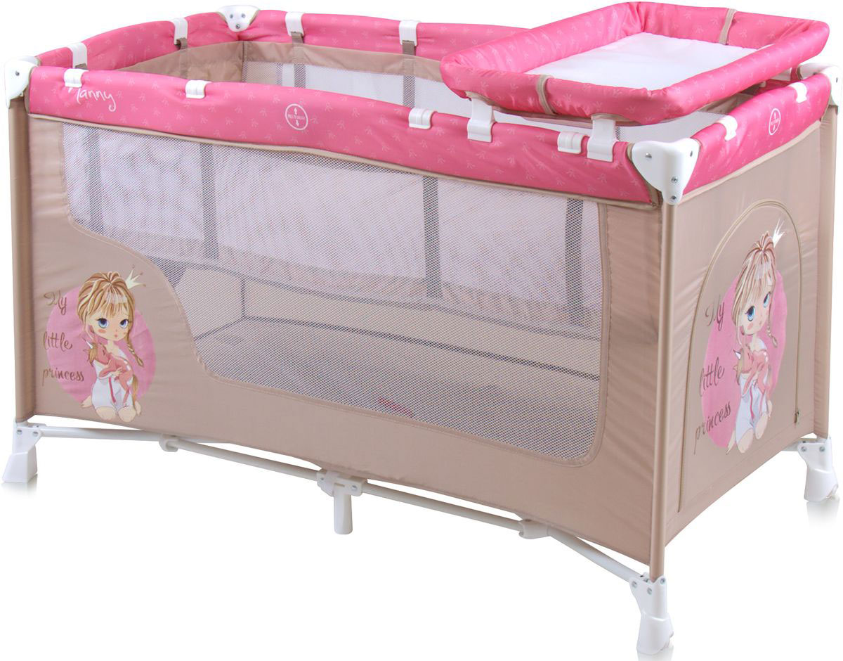 Lorelli Манеж-кроватка Nanny 2 цвет бежевый розовый - Детская комната
