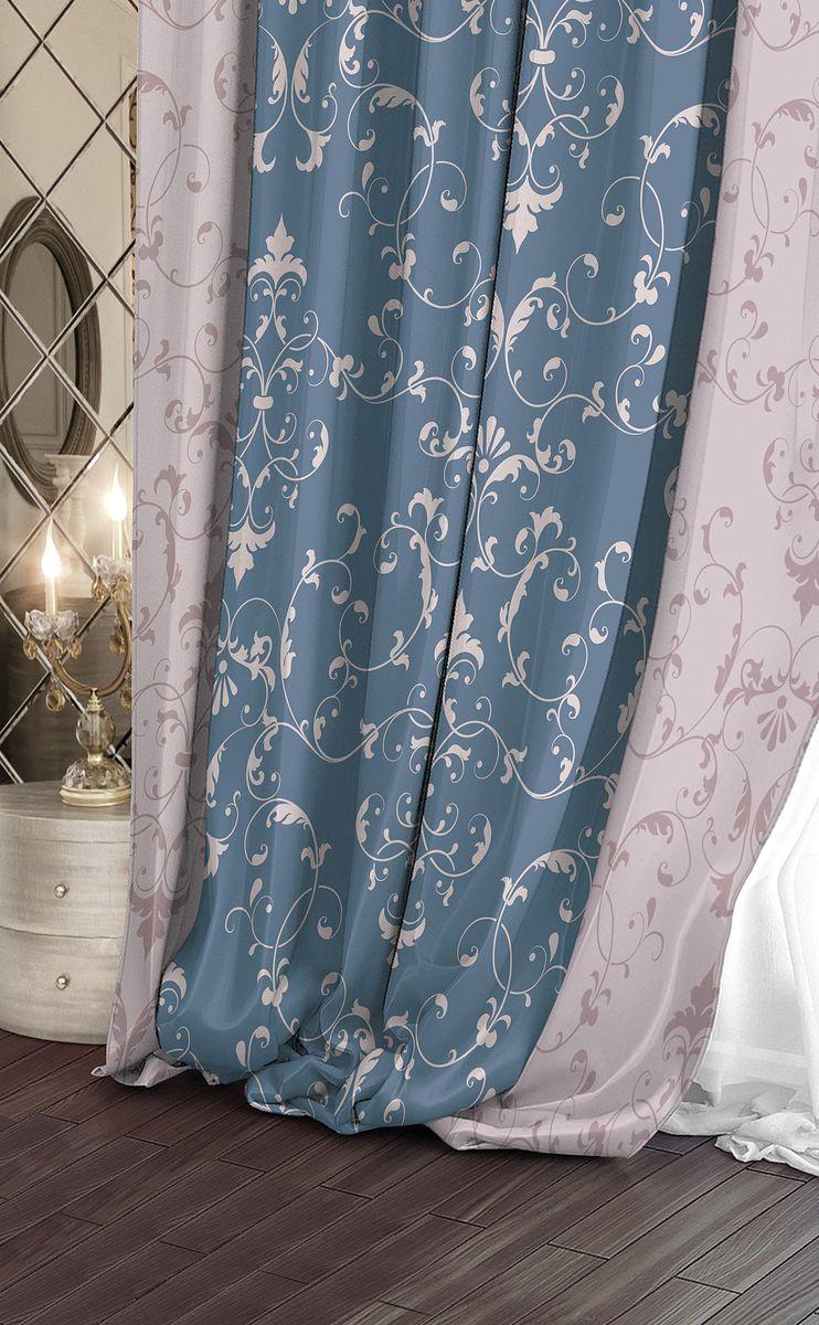 Штора Волшебная ночь Scenic, на ленте, цвет: голубой, бежевый, белый, высота 270 см. 708339708339Шторы коллекции Волшебная ночь - это готовое решение для Вашего интерьера, гарантирующее красоту, удобство и индивидуальный стиль! Длина штор регулируется с помощью клеевой паутинки (в комплекте). Изделия крепятся на вшитую шторную ленту: на крючки или путем продевания на карниз. Дизайнеры Марки предлагают уже сформированные комплекты штор из различных тканей и рисунков для создания идеальной композиции на окне. Для удобства выбора дизайны штор распределены в стилевые коллекции: ЭТНО, ВЕРСАЛЬ, ЛОФТ, ПРОВАНС. В коллекции Волшебная ночь к данной шторе Вы также сможете подобрать шторы из тканей: ВУАЛЬ - легкое затемнение, декоративная функция, БЛЭКАУТ (100% затемненение), сатен и ГАБАРДИН (частичное затемнение), которые будут прекрасно сочетаться по дизайну и обеспечат особый уют Вашему дому.