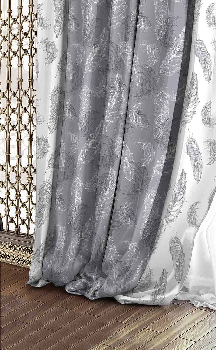 Штора Волшебная ночь Lana, на ленте, цвет: белый, светло-серый, высота 270 см. 708346708346Шторы коллекции Волшебная ночь - это готовое решение для Вашего интерьера, гарантирующее красоту, удобство и индивидуальный стиль! Длина штор регулируется с помощью клеевой паутинки (в комплекте). Изделия крепятся на вшитую шторную ленту: на крючки или путем продевания на карниз. Дизайнеры Марки предлагают уже сформированные комплекты штор из различных тканей и рисунков для создания идеальной композиции на окне. Для удобства выбора дизайны штор распределены в стилевые коллекции: ЭТНО, ВЕРСАЛЬ, ЛОФТ, ПРОВАНС. В коллекции Волшебная ночь к данной шторе Вы также сможете подобрать шторы из тканей: ВУАЛЬ - легкое затемнение, декоративная функция, БЛЭКАУТ (100% затемненение), сатен и ГАБАРДИН (частичное затемнение), которые будут прекрасно сочетаться по дизайну и обеспечат особый уют Вашему дому.