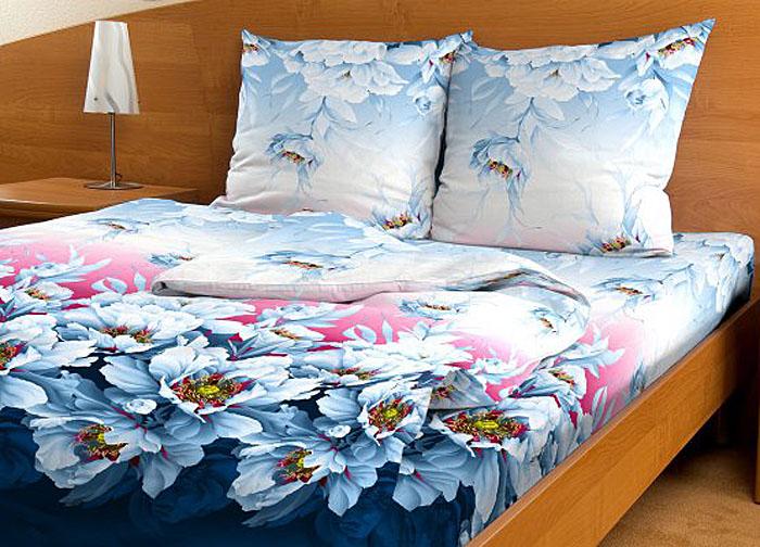 Комплект белья Letto Традиция, евро, наволочки 70x70, цвет: голубой. B70-6 комплект белья letto семейный наволочки 70х70 цвет голубой синий b183 7