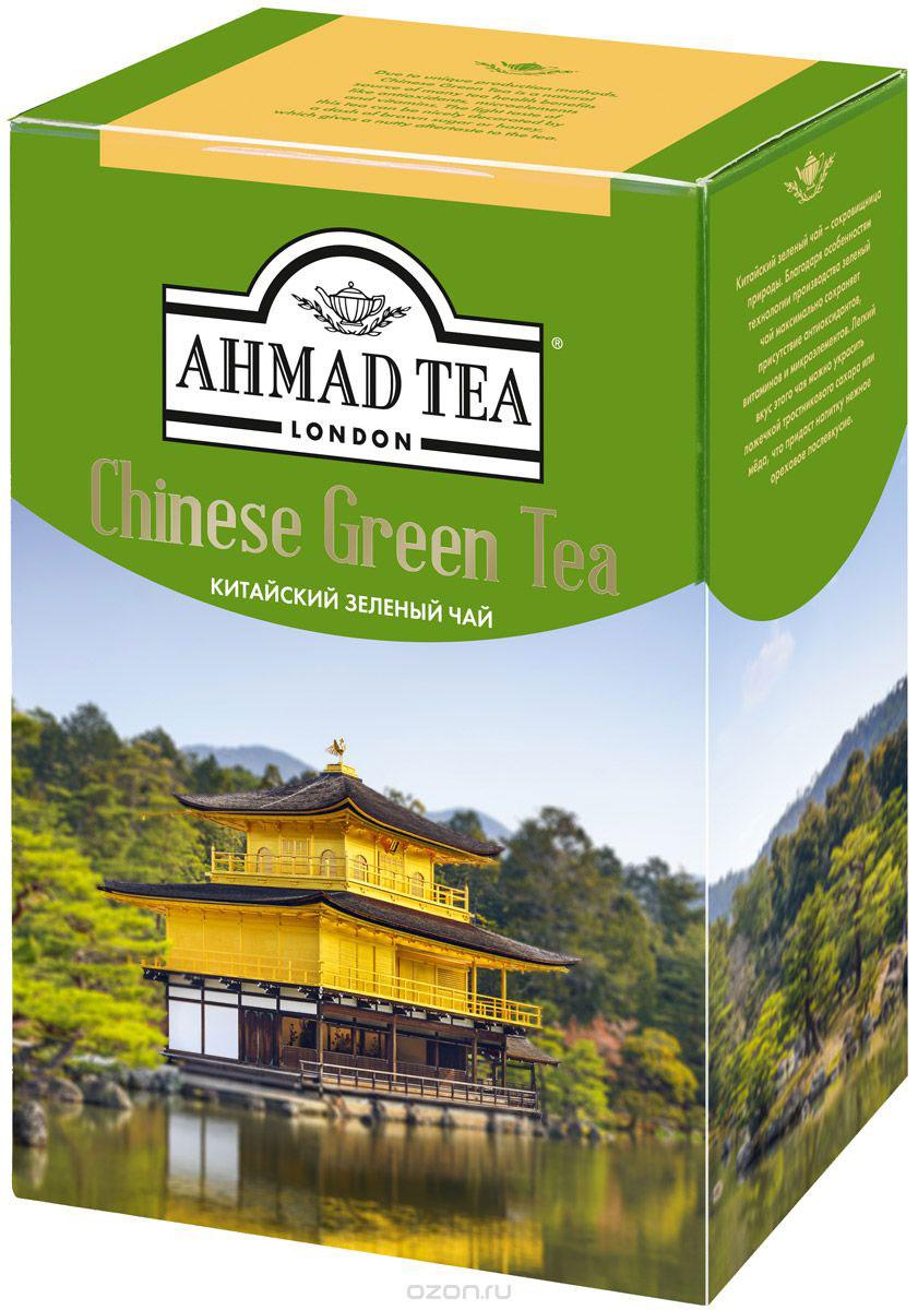 Ahmad Tea Китайский зеленый чай, 100 г1570-1Китайский зеленый чай Ahmad Tea - сокровищница природы. Благодаря особенностям технологии производства зеленый чай максимально сохраняет присутствие антиоксидантов, витаминов и микроэлементов. Легкий вкус этого чая можно украсить ложечкой тростникового сахара, меда, что придаст напитку нежное ореховое послевкусие.Уважаемые клиенты! Обращаем ваше внимание на то, что упаковка может иметь несколько видов дизайна. Поставка осуществляется в зависимости от наличия на складе.