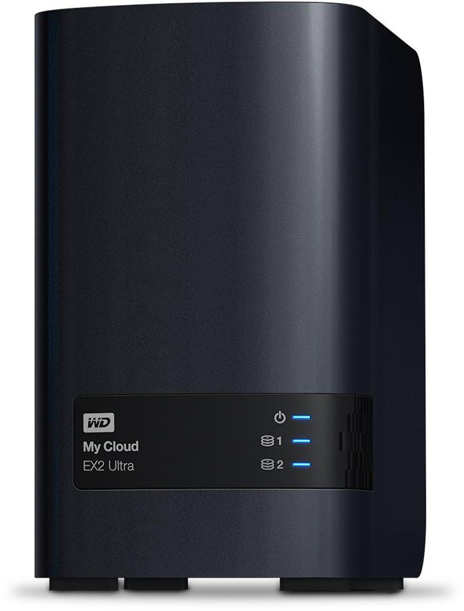 WD My Cloud EX2 Ultra сетевое хранилище без дисков (WDBSHB0000NCH-EEUE) - Сетевое оборудование