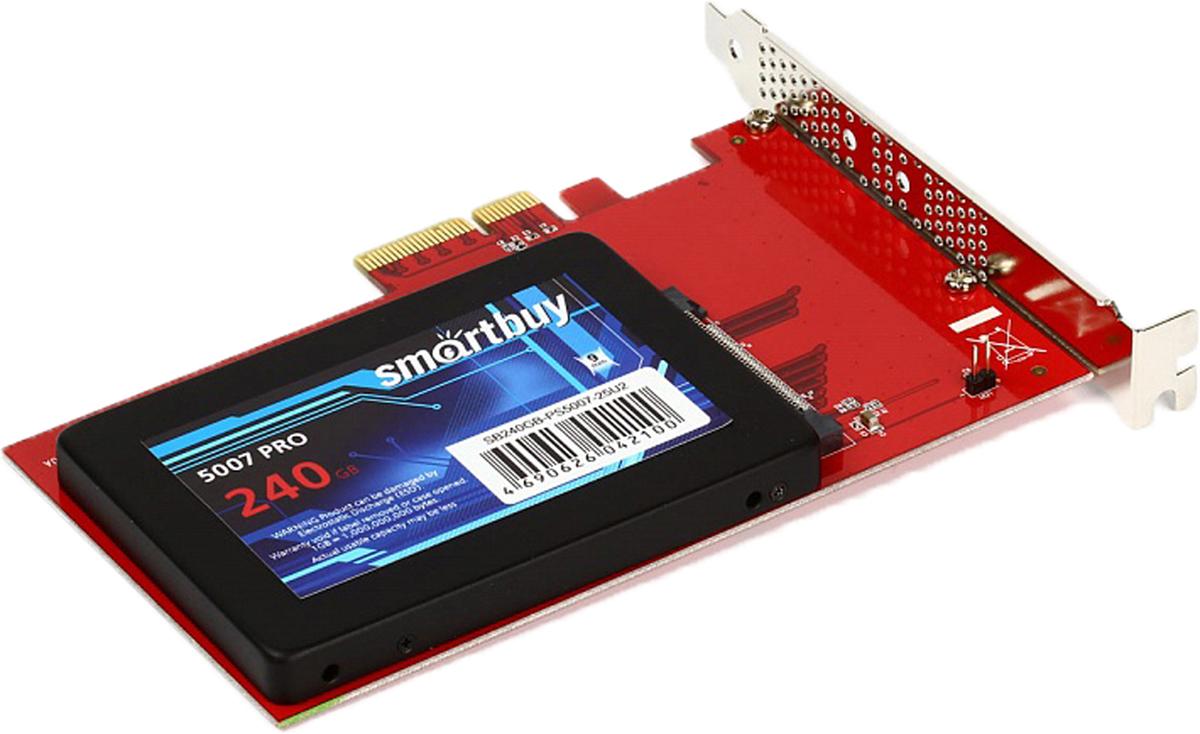 SmartBuy PE-132 переходник-конвертер для NVMe 2.5  U.2 SSD в PCIe 3.0 x4 - Носители информации
