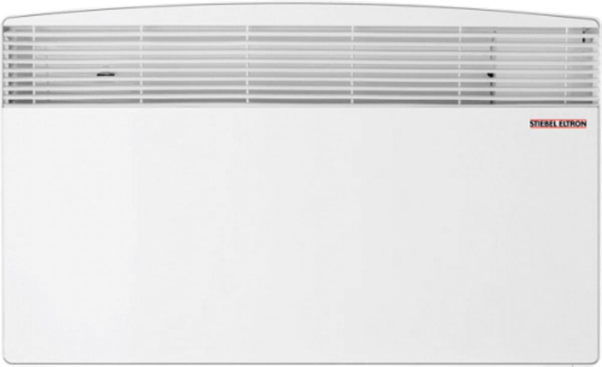 Stiebel Eltron CNS 300 S обогревательCNS 300 SЭлектрический конвектор прямого нагрева Stiebel Eltron CNS 50 S используется для создания комфортного климата в жилых помещениях, санузлах, ванных комнатах. Благодаря экономичности, безопасности и простоте в использовании он окажется незаменим там, где необходимо как основное, так и вспомогательное отопление. Принцип действия конвектора основан на перемещении естественным путем воздушных масс. Более тяжелый, холодный воздух попадает через входные решетки, расположенные в нижней части корпуса, внутрь прибора. Где проходя через ТЭН, нагревается до необходимой температуры, и за счет естественной тяги устремляется вверх, проходя через верхние жалюзи. По мере остывания, холодные массы оседают вниз и процесс повторяется. Отсутствие вентиляторов делает работу обогревателя полностью бесшумным и исключает возможность появления сквозняков. Прибор выполнен в современном дизайне, компактная плоская конструкция позволяет осуществлять настенный монтаж, не нарушая существующего интерьера помещений. Нагревательный элемент, установленный в конвекторе - стальной, теплообменник выполнен из алюминия. Эффективность работы прибора, характеризуемая значением КПД, составляет 98 процентов, что является одним из лучших показателей среди отопительного оборудования.Как выбрать обогреватель. Статья OZON Гид