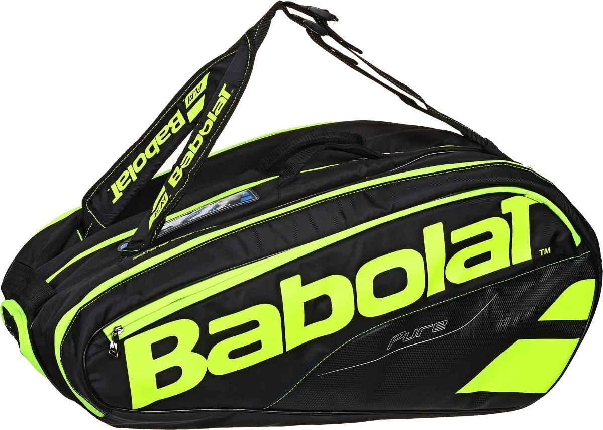 Чехол для теннисных ракеток Babolat  Pure , на 12 ракеток, цвет: желтый, черный - Теннис