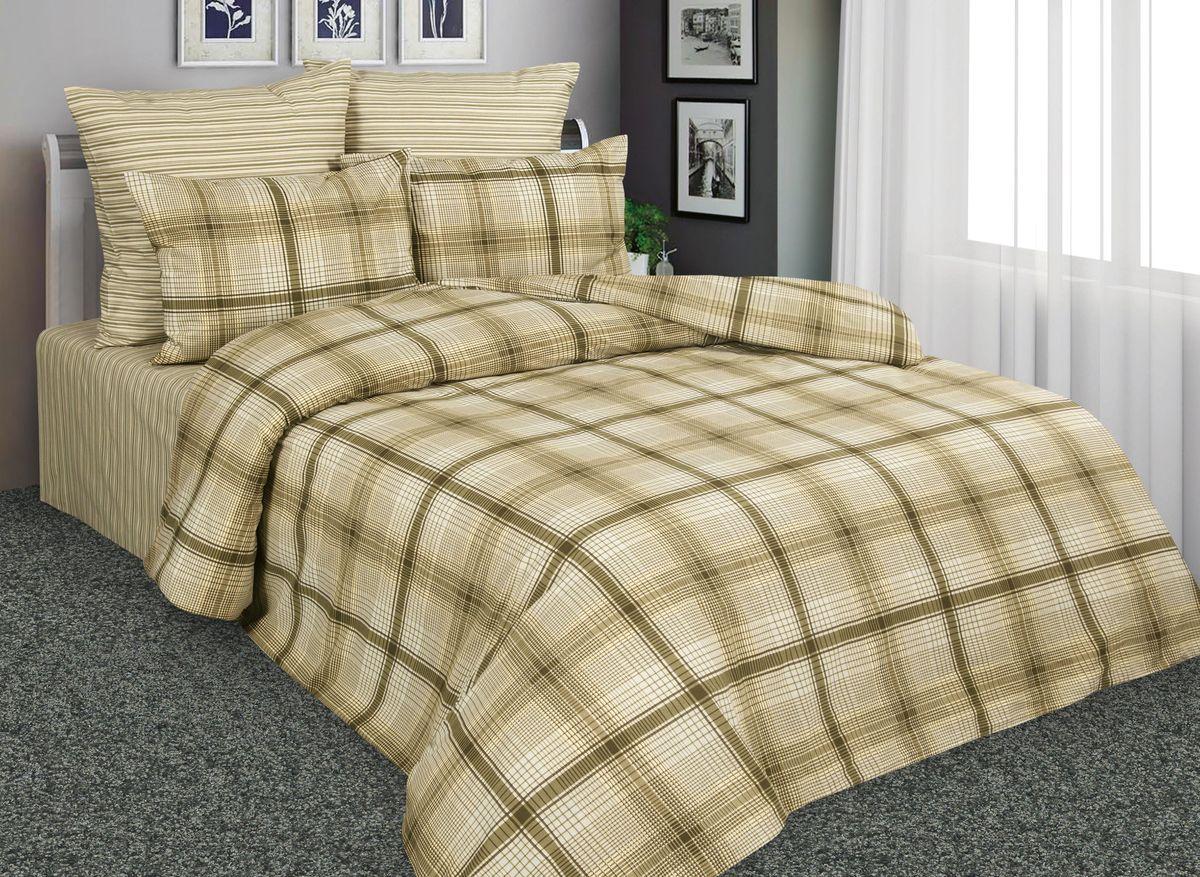 Комплект белья Amore Mio Шотландия, 1,5-спальный, наволочки 70x70, цвет: коричневый, бежевый. 8852788527Постельное белье Amore Mio из перкали - эксклюзивные дизайны, разработанные европейскими дизайнерами, воплощенные на плотной легкой ткани из 100% хлопка.