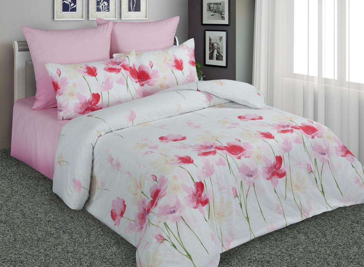 Комплект белья Amore Mio Маки, 1,5-спальный, наволочки 70x70, цвет: белый. 89211 термокружка объектив 89211
