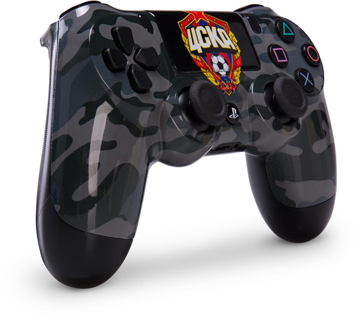 Sony DualShock 4 ЦСКА Black Camo беспроводной контроллер для PS4 аксессуары для игровых приставок sony dualshock 4 black