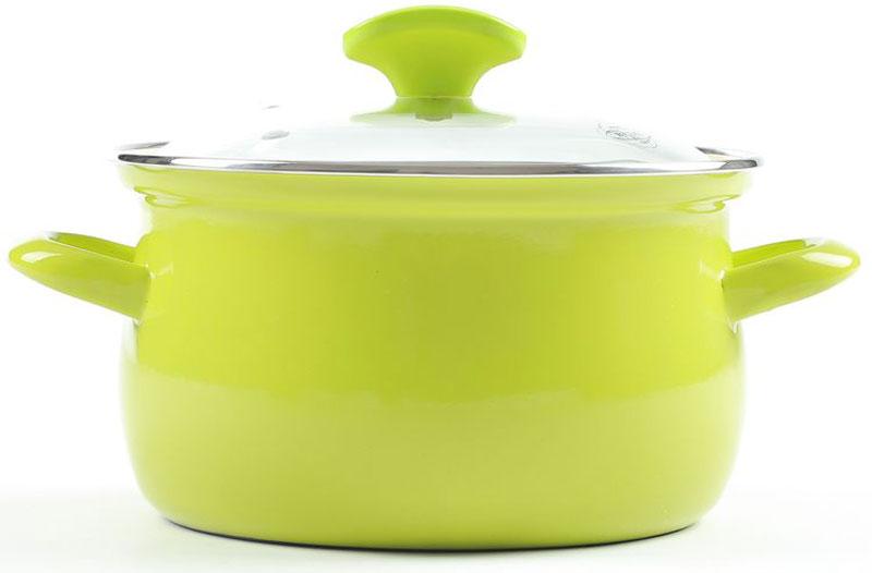 Кастрюля Belis Грин лайн с крышкой, 2,8 л51518-182000M5Кастрюля со стеклянной крышкой Грин лайн толщина металла: 1,2 мм. Наружная эмаль: зеленая; внутренняя поверхность: бежевая.Линейки Green line тличается в первую очередь простым элегантным видом, снаружи на кастрюлю нанесена современная светло-зеленая или сине-зеленая эмаль. Внутри кастрюль нанесена высококачественная кремовая эмаль. У этой эмалированной посуды чрезвычайно практичная стеклянная крышка с пластиковой ручкой.