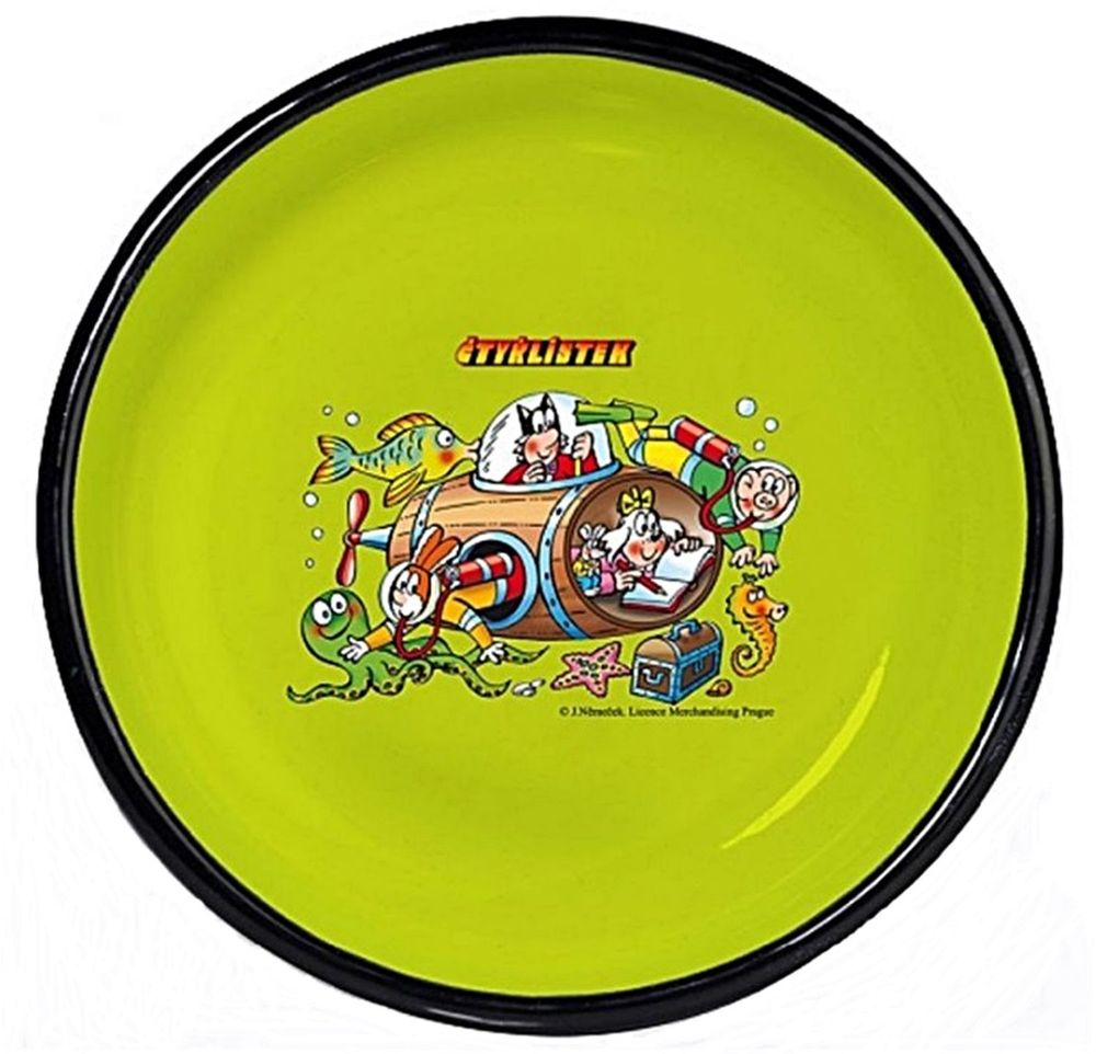 Тарелка эмалированная Belis Бочка, диаметр 20 см15020-061DT204Тарелка Бочка толщина металла: 0,6 мм. Поверхность зеленая + деколь
