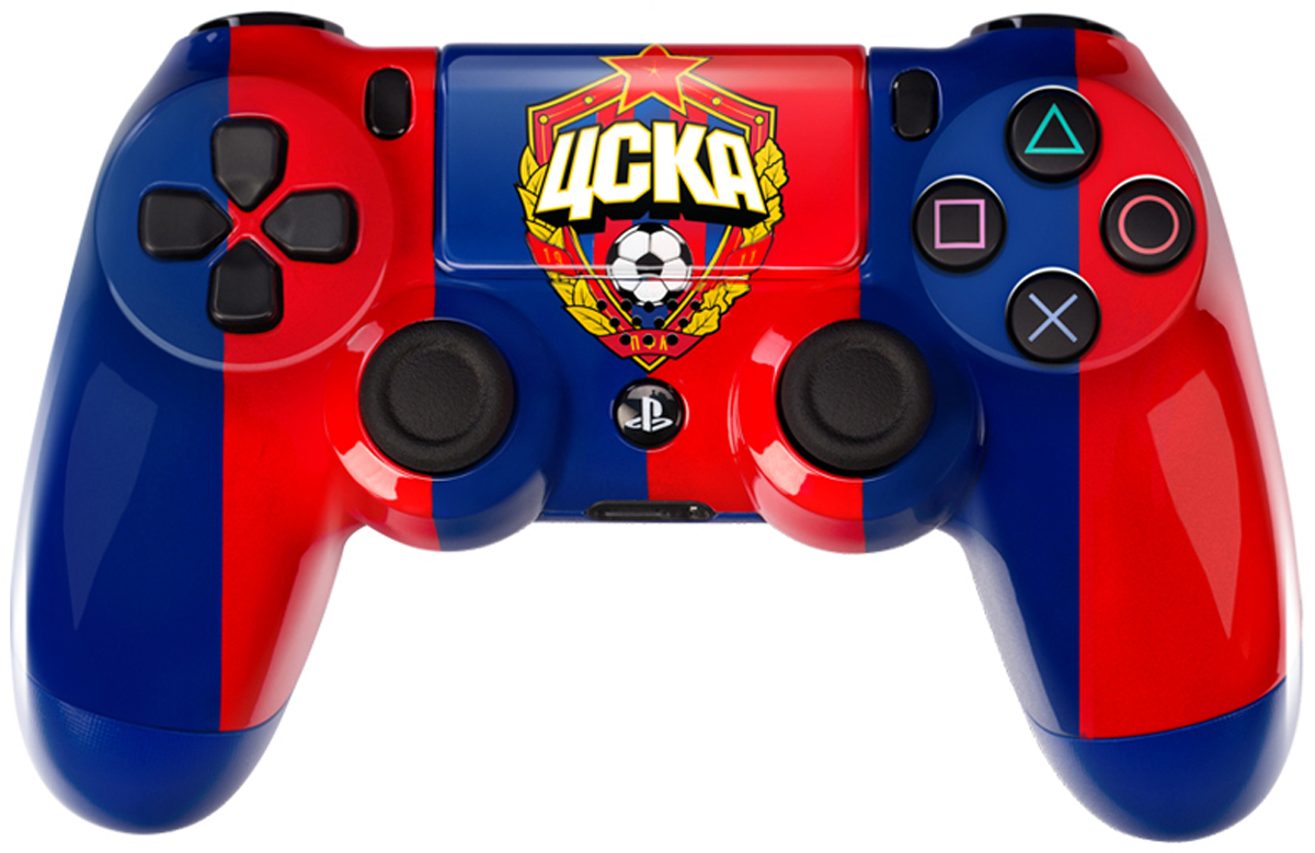 Sony DualShock 4 ЦСКА Красно-Синий геймпад для PS4