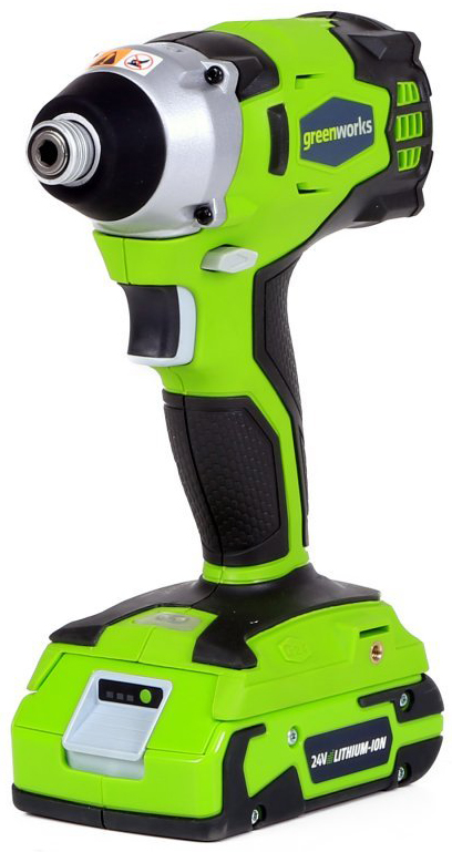 Фото Шуруповерт ударный аккумуляторный Greenworks 24V, без аккумулятора и зарядного устройства 3801407