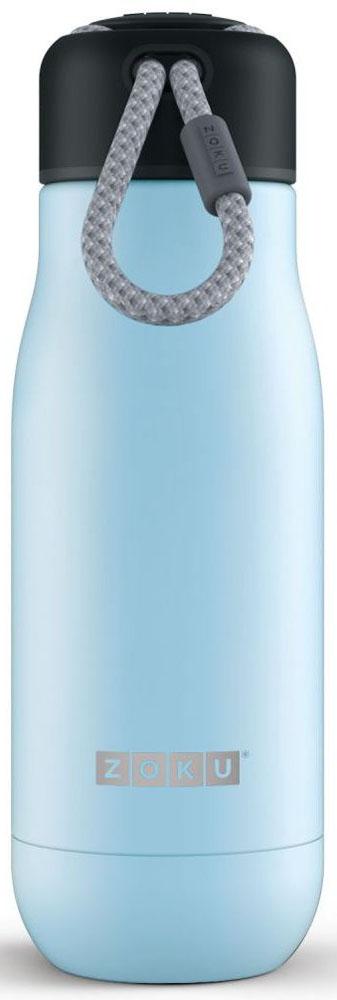 Термос Zoku Hydration, цвет: голубой, 350 мл320400028Вакуум и толстые стенки из нержавеющей стали поддерживают температуру горячих напитков до 15, а холодных - до 70 часов. При этом бутылку можно спокойно держать в руках без риска обжечься.Узкое горлышко создано специально для питья, вам не потребуются дополнительные стаканы или емкости. Гладкая полированная поверхность легко очищается за считанные секунды и не накапливает на себе бактерии и грязь благодаря тому, что резьба для крышки спрятана внутри.Шнур на крышке бутылки называется «паракордом» и позволяет вам брать её с собой, куда бы вы ни направлялись: держите её в руках, несите за ремешок или же прикрепите к снаряжению. Шнур легко вынимается при необходимости, просто потяните защитную крышку вверх.Высокое качество нержавеющей стали 18/8 делает термобутылку особенно прочной. Бутылка будет служить долго и не потребует замены деталей.Крышка с силиконовой вставкой полностью герметична, поэтому бутылку можно смело убрать в рюкзак, чемодан или сумку, не боясь, что ее содержимое прольется.Привлекательный внешний вид, яркий цвет и качественные материалы делают эту термобутылку идеальным компаньоном для активных и следящих за своим здоровьем людей. Она подчеркнет ваш имидж и добавит ему ярких акцентов.