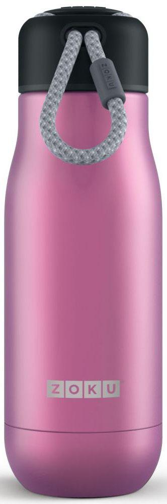 Термос Zoku Hydration, цвет: фиолетовый, 350 млZK141-PUВакуум и толстые стенки из нержавеющей стали поддерживают температуру горячих напитков до 15, а холодных - до 70 часов. При этом бутылку можно спокойно держать в руках без риска обжечься. Узкое горлышко создано специально для питья, вам не потребуются дополнительные стаканы или емкости. Гладкая полированная поверхность легко очищается за считанные секунды и не накапливает на себе бактерии и грязь благодаря тому, что резьба для крышки спрятана внутри. Шнур на крышке бутылки называется «паракордом» и позволяет вам брать её с собой, куда бы вы ни направлялись: держите её в руках, несите за ремешок или же прикрепите к снаряжению. Шнур легко вынимается при необходимости, просто потяните защитную крышку вверх. Высокое качество нержавеющей стали 18/8 делает термобутылку особенно прочной. Бутылка будет служить долго и не потребует замены деталей. Крышка с силиконовой вставкой полностью герметична, поэтому бутылку можно смело убрать в рюкзак, чемодан или сумку, не боясь, что ее содержимое прольется. Привлекательный внешний вид, яркий цвет и качественные материалы делают эту термобутылку идеальным компаньоном для активных и следящих за своим здоровьем людей. Она подчеркнет ваш имидж и добавит ему ярких акцентов.