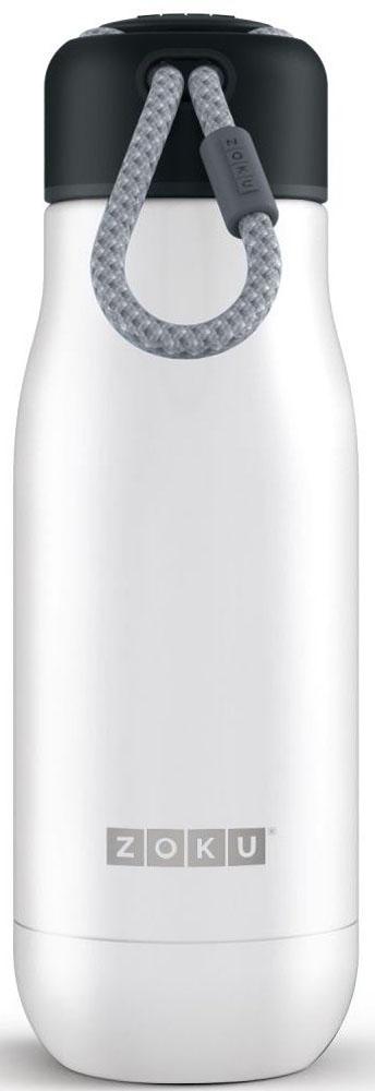 Термос Zoku Hydration, цвет: белый, 350 млZK141-WTДвойные вакуумные стенкиВакуум и толстые стенки из нержавеющей стали поддерживают температуру горячих напитковдо 10, а холодных - до 30 часов, поэтому любимыенапитки всегда будут доступны в течение дня. При этом бутылку можно спокойно держать вруках без риска обжечься. Гигиеничное горлышкоУзкое горлышко создано специально для питья, вам не потребуются дополнительные стаканыили емкости. Гладкая полированная поверхностьлегко очищается за считанные секунды и не накапливает на себе бактерии и грязь благодарятому, что резьба для крышки спрятана внутри. Дажеесли вы находитесь на активном отдыхе или занимаетесь спортом, ваша бутылка всегдаостается чистой и гигиеничной. Паракорд для переноскиШнур на крышке бутылки называется «паракордом» и позволяет вам брать её с собой, куда бывы ни направлялись: держите её в руках, несите заремешок или же прикрепите к снаряжению. Шнур легко вынимается при необходимости, простопотяните защитную крышку вверх.Нержавеющая сталь Высокое качество нержавеющей стали 18/8 делает термобутылку особенно прочной: онаустойчива к коррозии, не разрушается и не впитываетзапахи. Бутылка будет служить долго и не потребует замены деталей. Используемая стальполностью пригодна для пищевых продуктов, несодержит фталатов и бисфенола-А.Открывается одним движениемЧтобы закрутить или открутить крышку, достаточно всего одного оборота, что очень удобно,если вы на ходу или за рулем. Крышка с силиконовойвставкой полностью герметична, поэтому бутылку можно смело убрать в рюкзак, чемодан илисумку, не боясь, что ее содержимое прольется.Стильный дизайн Привлекательный внешний вид, яркие цвета и качественные материалы делают этутермобутылку идеальным компаньоном для активных иследящих за своим здоровьем людей. Она подчеркнет ваш имидж и добавит ему яркихакцентов. Берите её с собой на прогулки, в спортзал и влюбое путешествие, не боясь, что ваши напитки его не выдержат.Объем термобутылки - 350 мл. Моется вручную.