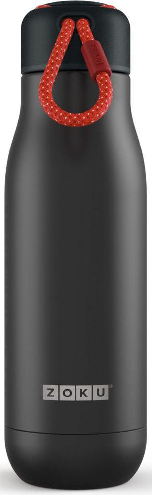 Термос Zoku Hydration, цвет: черный, 500 млZK142-BLKВакуум и толстые стенки из нержавеющей стали поддерживают температуру горячих напитков до 15, а холодных - до 70 часов. При этом бутылку можно спокойно держать в руках без риска обжечься. Узкое горлышко создано специально для питья, вам не потребуются дополнительные стаканы или емкости. Гладкая полированная поверхность легко очищается за считанные секунды и не накапливает на себе бактерии и грязь благодаря тому, что резьба для крышки спрятана внутри. Шнур на крышке бутылки называется «паракордом» и позволяет вам брать её с собой, куда бы вы ни направлялись: держите её в руках, несите за ремешок или же прикрепите к снаряжению. Шнур легко вынимается при необходимости, просто потяните защитную крышку вверх. Высокое качество нержавеющей стали 18/8 делает термобутылку особенно прочной. Бутылка будет служить долго и не потребует замены деталей. Крышка с силиконовой вставкой полностью герметична, поэтому бутылку можно смело убрать в рюкзак, чемодан или сумку, не боясь, что ее содержимое прольется. Привлекательный внешний вид, яркий цвет и качественные материалы делают эту термобутылку идеальным компаньоном для активных и следящих за своим здоровьем людей. Она подчеркнет ваш имидж и добавит ему ярких акцентов.