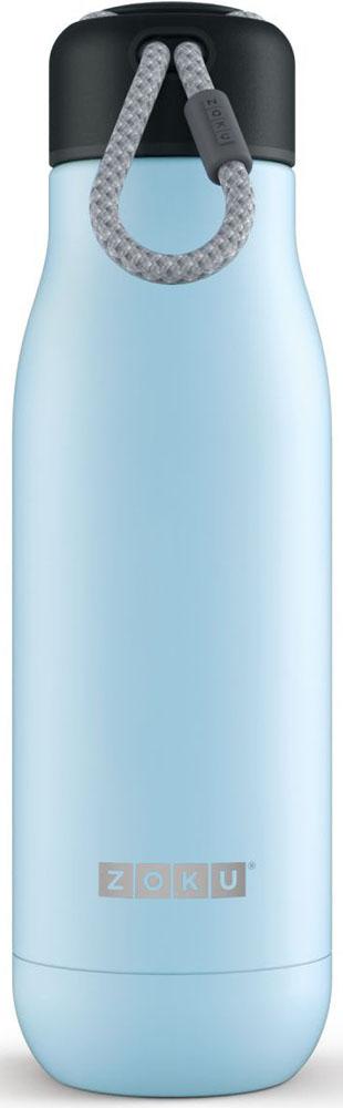 Термос Zoku Hydration, цвет: голубой, 500 млZK142-LBДвойные вакуумные стенкиВакуум и толстые стенки из нержавеющей стали поддерживают температуру горячих напитков до 12, а холодных – до 40 часов, поэтому любимые напитки всегда будут доступны в течение дня. При этом бутылку можно спокойно держать в руках без риска обжечься. Гигиеничное горлышкоУзкое горлышко создано специально для питья, вам не потребуются дополнительные стаканы или емкости. Гладкая полированная поверхность легко очищается за считанные секунды и не накапливает на себе бактерии и грязь благодаря тому, что резьба для крышки спрятана внутри. Даже если вы находитесь на активном отдыхе или занимаетесь спортом, ваша бутылка всегда остается чистой и гигиеничной.Паракорд для переноскиШнур на крышке бутылки называется «паракордом» и позволяет вам брать её с собой, куда бы вы ни направлялись: держите её в руках, несите за ремешок или же прикрепите к снаряжению. Шнур легко вынимается при необходимости, просто потяните защитную крышку вверх. Нержавеющая сталь Высокое качество нержавеющей стали 18/8 делает термобутылку особенно прочной: она устойчива к коррозии, не разрушается и не впитывает запахи. Бутылка будет служить долго и не потребует замены деталей. Используемая сталь полностью пригодна для пищевых продуктов, не содержит фталатов и бисфенола-А. Открывается одним движениемЧтобы закрутить или открутить крышку, достаточно всего одного оборота, что очень удобно, если вы на ходу или за рулем. Крышка с силиконовой вставкой полностью герметична, поэтому бутылку можно смело убрать в рюкзак, чемодан или сумку, не боясь, что ее содержимое прольется.Стильный дизайнПривлекательный внешний вид, яркие цвета и качественные материалы делают эту термобутылку идеальным компаньоном для активных и следящих за своим здоровьем людей. Она подчеркнет ваш имидж и добавит ему ярких акцентов. Берите её с собой на прогулки, в спортзал и в любое путешествие, не боясь, что ваши напитки его не выдержат.Объем термобутылки – 500 мл. Моет