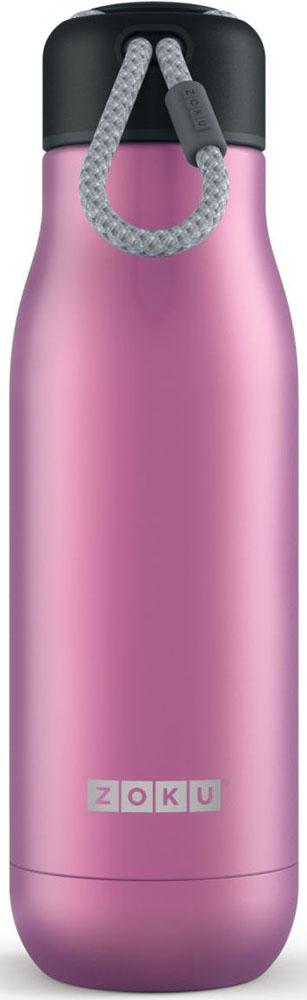 Термос Zoku Hydration, цвет: фиолетовый, 500 млZK142-PUВакуум и толстые стенки из нержавеющей стали поддерживают температуру горячих напитков до 15, а холодных - до 70 часов. При этом бутылку можно спокойно держать в руках без риска обжечься. Узкое горлышко создано специально для питья, вам не потребуются дополнительные стаканы или емкости. Гладкая полированная поверхность легко очищается за считанные секунды и не накапливает на себе бактерии и грязь благодаря тому, что резьба для крышки спрятана внутри. Шнур на крышке бутылки называется «паракордом» и позволяет вам брать её с собой, куда бы вы ни направлялись: держите её в руках, несите за ремешок или же прикрепите к снаряжению. Шнур легко вынимается при необходимости, просто потяните защитную крышку вверх. Высокое качество нержавеющей стали 18/8 делает термобутылку особенно прочной. Бутылка будет служить долго и не потребует замены деталей. Крышка с силиконовой вставкой полностью герметична, поэтому бутылку можно смело убрать в рюкзак, чемодан или сумку, не боясь, что ее содержимое прольется. Привлекательный внешний вид, яркий цвет и качественные материалы делают эту термобутылку идеальным компаньоном для активных и следящих за своим здоровьем людей. Она подчеркнет ваш имидж и добавит ему ярких акцентов.