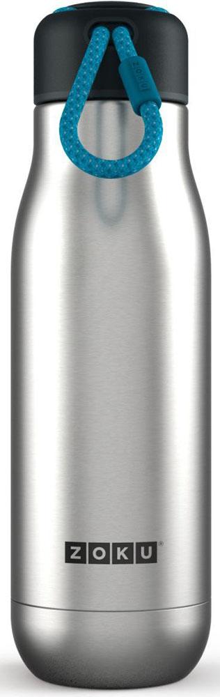 Термос Zoku Hydration, цвет: металлик, 500 млZK142-SSДвойные вакуумные стенкиВакуум и толстые стенки из нержавеющей стали поддерживают температуру горячих напитков до 12, а холодных – до 40 часов, поэтому любимые напитки всегда будут доступны в течение дня. При этом бутылку можно спокойно держать в руках без риска обжечься. Гигиеничное горлышкоУзкое горлышко создано специально для питья, вам не потребуются дополнительные стаканы или емкости. Гладкая полированная поверхность легко очищается за считанные секунды и не накапливает на себе бактерии и грязь благодаря тому, что резьба для крышки спрятана внутри. Даже если вы находитесь на активном отдыхе или занимаетесь спортом, ваша бутылка всегда остается чистой и гигиеничной.Паракорд для переноскиШнур на крышке бутылки называется «паракордом» и позволяет вам брать её с собой, куда бы вы ни направлялись: держите её в руках, несите за ремешок или же прикрепите к снаряжению. Шнур легко вынимается при необходимости, просто потяните защитную крышку вверх. Нержавеющая сталь Высокое качество нержавеющей стали 18/8 делает термобутылку особенно прочной: она устойчива к коррозии, не разрушается и не впитывает запахи. Бутылка будет служить долго и не потребует замены деталей. Используемая сталь полностью пригодна для пищевых продуктов, не содержит фталатов и бисфенола-А. Открывается одним движениемЧтобы закрутить или открутить крышку, достаточно всего одного оборота, что очень удобно, если вы на ходу или за рулем. Крышка с силиконовой вставкой полностью герметична, поэтому бутылку можно смело убрать в рюкзак, чемодан или сумку, не боясь, что ее содержимое прольется.Стильный дизайнПривлекательный внешний вид, яркие цвета и качественные материалы делают эту термобутылку идеальным компаньоном для активных и следящих за своим здоровьем людей. Она подчеркнет ваш имидж и добавит ему ярких акцентов. Берите её с собой на прогулки, в спортзал и в любое путешествие, не боясь, что ваши напитки его не выдержат.Объем термобутылки – 500 мл. Мое