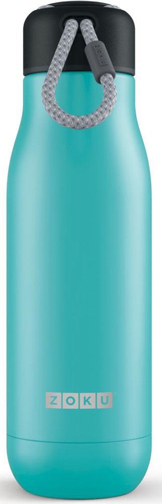 Термос Zoku Hydration, цвет: бирюзовый, 500 млZK142-TLДвойные вакуумные стенкиВакуум и толстые стенки из нержавеющей стали поддерживают температуру горячих напитков до 12, а холодных – до 40 часов, поэтому любимые напитки всегда будут доступны в течение дня. При этом бутылку можно спокойно держать в руках без риска обжечься. Гигиеничное горлышкоУзкое горлышко создано специально для питья, вам не потребуются дополнительные стаканы или емкости. Гладкая полированная поверхность легко очищается за считанные секунды и не накапливает на себе бактерии и грязь благодаря тому, что резьба для крышки спрятана внутри. Даже если вы находитесь на активном отдыхе или занимаетесь спортом, ваша бутылка всегда остается чистой и гигиеничной.Паракорд для переноскиШнур на крышке бутылки называется «паракордом» и позволяет вам брать её с собой, куда бы вы ни направлялись: держите её в руках, несите за ремешок или же прикрепите к снаряжению. Шнур легко вынимается при необходимости, просто потяните защитную крышку вверх. Нержавеющая сталь Высокое качество нержавеющей стали 18/8 делает термобутылку особенно прочной: она устойчива к коррозии, не разрушается и не впитывает запахи. Бутылка будет служить долго и не потребует замены деталей. Используемая сталь полностью пригодна для пищевых продуктов, не содержит фталатов и бисфенола-А. Открывается одним движениемЧтобы закрутить или открутить крышку, достаточно всего одного оборота, что очень удобно, если вы на ходу или за рулем. Крышка с силиконовой вставкой полностью герметична, поэтому бутылку можно смело убрать в рюкзак, чемодан или сумку, не боясь, что ее содержимое прольется.Стильный дизайнПривлекательный внешний вид, яркие цвета и качественные материалы делают эту термобутылку идеальным компаньоном для активных и следящих за своим здоровьем людей. Она подчеркнет ваш имидж и добавит ему ярких акцентов. Берите её с собой на прогулки, в спортзал и в любое путешествие, не боясь, что ваши напитки его не выдержат.Объем термобутылки – 500 мл. Мо