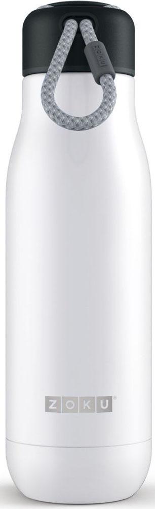 Термос Zoku Hydration, цвет: белый, 500 млZK142-WTДвойные вакуумные стенки Вакуум и толстые стенки из нержавеющей стали поддерживают температуру горячих напитков до 12, а холодных – до 40 часов, поэтому любимые напитки всегда будут доступны в течение дня. При этом бутылку можно спокойно держать в руках без риска обжечься. Гигиеничное горлышко Узкое горлышко создано специально для питья, вам не потребуются дополнительные стаканы или емкости. Гладкая полированная поверхность легко очищается за считанные секунды и не накапливает на себе бактерии и грязь благодаря тому, что резьба для крышки спрятана внутри. Даже если вы находитесь на активном отдыхе или занимаетесь спортом, ваша бутылка всегда остается чистой и гигиеничной.Паракорд для переноски Шнур на крышке бутылки называется «паракордом» и позволяет вам брать её с собой, куда бы вы ни направлялись: держите её в руках, несите за ремешок или же прикрепите к снаряжению. Шнур легко вынимается при необходимости, просто потяните защитную крышку вверх. Нержавеющая стальВысокое качество нержавеющей стали 18/8 делает термобутылку особенно прочной: она устойчива к коррозии, не разрушается и не впитывает запахи. Бутылка будет служить долго и не потребует замены деталей. Используемая сталь полностью пригодна для пищевых продуктов, не содержит фталатов и бисфенола-А. Открывается одним движением Чтобы закрутить или открутить крышку, достаточно всего одного оборота, что очень удобно, если вы на ходу или за рулем. Крышка с силиконовой вставкой полностью герметична, поэтому бутылку можно смело убрать в рюкзак, чемодан или сумку, не боясь, что ее содержимое прольется.Стильный дизайн Привлекательный внешний вид, яркие цвета и качественные материалы делают эту термобутылку идеальным компаньоном для активных и следящих за своим здоровьем людей. Она подчеркнет ваш имидж и добавит ему ярких акцентов. Берите её с собой на прогулки, в спортзал и в любое путешествие, не боясь, что ваши напитки его не выдержат.Объем термобутылки – 500 мл. Мо