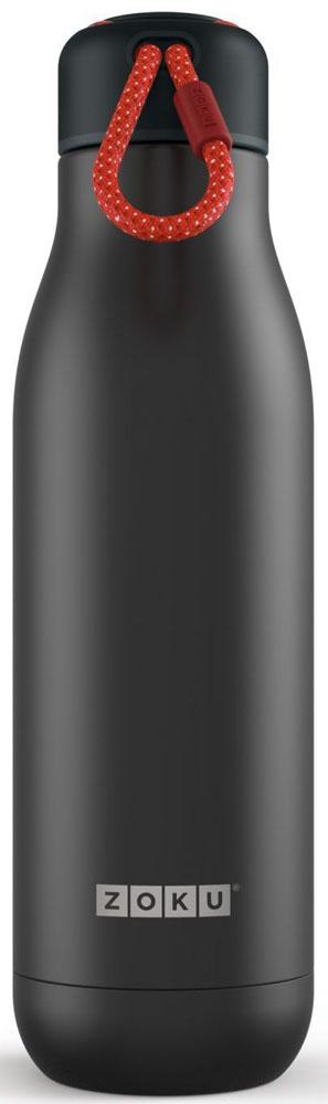 Термос Zoku Hydration, цвет: черный, 750 млZK143-BLKВакуум и толстые стенки из нержавеющей стали поддерживают температуру горячих напитков до 15, а холодных - до 70 часов. При этом бутылку можно спокойно держать в руках без риска обжечься. Узкое горлышко создано специально для питья, вам не потребуются дополнительные стаканы или емкости. Гладкая полированная поверхность легко очищается за считанные секунды и не накапливает на себе бактерии и грязь благодаря тому, что резьба для крышки спрятана внутри. Шнур на крышке бутылки называется «паракордом» и позволяет вам брать её с собой, куда бы вы ни направлялись: держите её в руках, несите за ремешок или же прикрепите к снаряжению. Шнур легко вынимается при необходимости, просто потяните защитную крышку вверх. Высокое качество нержавеющей стали 18/8 делает термобутылку особенно прочной. Бутылка будет служить долго и не потребует замены деталей. Крышка с силиконовой вставкой полностью герметична, поэтому бутылку можно смело убрать в рюкзак, чемодан или сумку, не боясь, что ее содержимое прольется. Привлекательный внешний вид, яркий цвет и качественные материалы делают эту термобутылку идеальным компаньоном для активных и следящих за своим здоровьем людей. Она подчеркнет ваш имидж и добавит ему ярких акцентов.