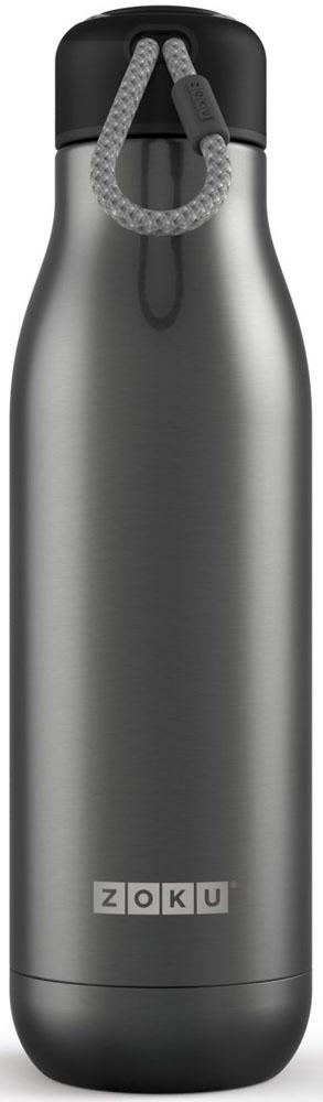 Термос Zoku Hydration, цвет: серый, 750 млZK143-GMДвойные вакуумные стенкиВакуум и толстые стенки из нержавеющей стали поддерживают температуру горячих напитков до 15, а холодных – до 70 часов, поэтому любимые напитки всегда будут доступны в течение дня. При этом бутылку можно спокойно держать в руках без риска обжечься. Гигиеничное горлышкоУзкое горлышко создано специально для питья, вам не потребуются дополнительные стаканы или емкости. Гладкая полированная поверхность легко очищается за считанные секунды и не накапливает на себе бактерии и грязь благодаря тому, что резьба для крышки спрятана внутри. Даже если вы находитесь на активном отдыхе или занимаетесь спортом, ваша бутылка всегда остается чистой и гигиеничной.Паракорд для переноскиШнур на крышке бутылки называется «паракордом» и позволяет вам брать её с собой, куда бы вы ни направлялись: держите её в руках, несите за ремешок или же прикрепите к снаряжению. Шнур легко вынимается при необходимости, просто потяните защитную крышку вверх. Нержавеющая сталь Высокое качество нержавеющей стали 18/8 делает термобутылку особенно прочной: она устойчива к коррозии, не разрушается и не впитывает запахи. Бутылка будет служить долго и не потребует замены деталей. Используемая сталь полностью пригодна для пищевых продуктов, не содержит фталатов и бисфенола-А. Открывается одним движениемЧтобы закрутить или открутить крышку, достаточно всего одного оборота, что очень удобно, если вы на ходу или за рулем. Крышка с силиконовой вставкой полностью герметична, поэтому бутылку можно смело убрать в рюкзак, чемодан или сумку, не боясь, что ее содержимое прольется.Стильный дизайнПривлекательный внешний вид, яркие цвета и качественные материалы делают эту термобутылку идеальным компаньоном для активных и следящих за своим здоровьем людей. Она подчеркнет ваш имидж и добавит ему ярких акцентов. Берите её с собой на прогулки, в спортзал и в любое путешествие, не боясь, что ваши напитки его не выдержат.Объем термобутылки – 750 мл. Моется