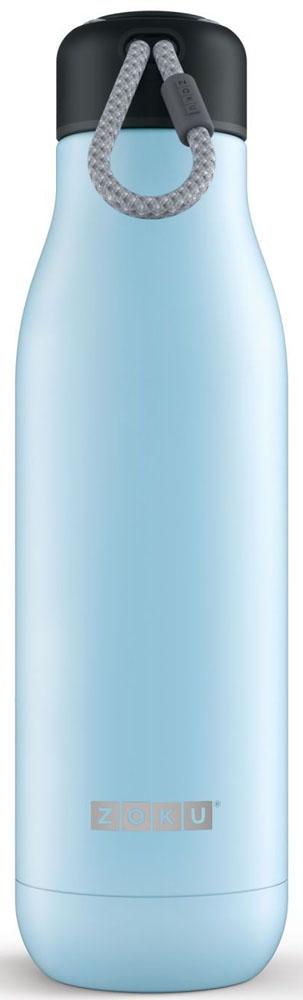 Термос Zoku Hydration, цвет: голубой, 750 млZK143-LBДвойные вакуумные стенкиВакуум и толстые стенки из нержавеющей стали поддерживают температуру горячих напитков до 15, а холодных – до 70 часов, поэтому любимые напитки всегда будут доступны в течение дня. При этом бутылку можно спокойно держать в руках без риска обжечься. Гигиеничное горлышкоУзкое горлышко создано специально для питья, вам не потребуются дополнительные стаканы или емкости. Гладкая полированная поверхность легко очищается за считанные секунды и не накапливает на себе бактерии и грязь благодаря тому, что резьба для крышки спрятана внутри. Даже если вы находитесь на активном отдыхе или занимаетесь спортом, ваша бутылка всегда остается чистой и гигиеничной.Паракорд для переноскиШнур на крышке бутылки называется «паракордом» и позволяет вам брать её с собой, куда бы вы ни направлялись: держите её в руках, несите за ремешок или же прикрепите к снаряжению. Шнур легко вынимается при необходимости, просто потяните защитную крышку вверх. Нержавеющая сталь Высокое качество нержавеющей стали 18/8 делает термобутылку особенно прочной: она устойчива к коррозии, не разрушается и не впитывает запахи. Бутылка будет служить долго и не потребует замены деталей. Используемая сталь полностью пригодна для пищевых продуктов, не содержит фталатов и бисфенола-А. Открывается одним движениемЧтобы закрутить или открутить крышку, достаточно всего одного оборота, что очень удобно, если вы на ходу или за рулем. Крышка с силиконовой вставкой полностью герметична, поэтому бутылку можно смело убрать в рюкзак, чемодан или сумку, не боясь, что ее содержимое прольется.Стильный дизайнПривлекательный внешний вид, яркие цвета и качественные материалы делают эту термобутылку идеальным компаньоном для активных и следящих за своим здоровьем людей. Она подчеркнет ваш имидж и добавит ему ярких акцентов. Берите её с собой на прогулки, в спортзал и в любое путешествие, не боясь, что ваши напитки его не выдержат.Объем термобутылки – 750 мл. Моет