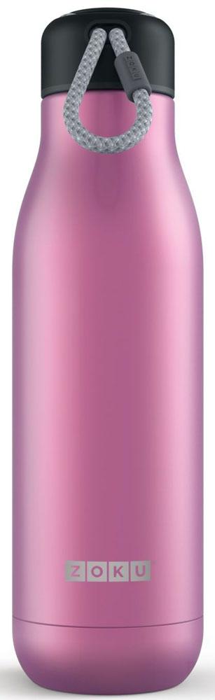 Термос Zoku Hydration, цвет: фиолетовый, 750 млZK143-PUВакуум и толстые стенки из нержавеющей стали поддерживают температуру горячих напитков до 15, а холодных - до 70 часов. При этом бутылку можно спокойно держать в руках без риска обжечься. Узкое горлышко создано специально для питья, вам не потребуются дополнительные стаканы или емкости. Гладкая полированная поверхность легко очищается за считанные секунды и не накапливает на себе бактерии и грязь благодаря тому, что резьба для крышки спрятана внутри. Шнур на крышке бутылки называется «паракордом» и позволяет вам брать её с собой, куда бы вы ни направлялись: держите её в руках, несите за ремешок или же прикрепите к снаряжению. Шнур легко вынимается при необходимости, просто потяните защитную крышку вверх. Высокое качество нержавеющей стали 18/8 делает термобутылку особенно прочной. Бутылка будет служить долго и не потребует замены деталей. Крышка с силиконовой вставкой полностью герметична, поэтому бутылку можно смело убрать в рюкзак, чемодан или сумку, не боясь, что ее содержимое прольется. Привлекательный внешний вид, яркий цвет и качественные материалы делают эту термобутылку идеальным компаньоном для активных и следящих за своим здоровьем людей. Она подчеркнет ваш имидж и добавит ему ярких акцентов.