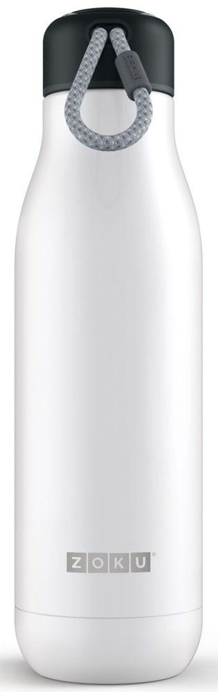 Термос Zoku Hydration, цвет: белый, 750 млZK143-WTДвойные вакуумные стенкиВакуум и толстые стенки из нержавеющей стали поддерживают температуру горячих напитков до 15, а холодных – до 70 часов, поэтому любимые напитки всегда будут доступны в течение дня. При этом бутылку можно спокойно держать в руках без риска обжечься. Гигиеничное горлышкоУзкое горлышко создано специально для питья, вам не потребуются дополнительные стаканы или емкости. Гладкая полированная поверхность легко очищается за считанные секунды и не накапливает на себе бактерии и грязь благодаря тому, что резьба для крышки спрятана внутри. Даже если вы находитесь на активном отдыхе или занимаетесь спортом, ваша бутылка всегда остается чистой и гигиеничной.Паракорд для переноскиШнур на крышке бутылки называется «паракордом» и позволяет вам брать её с собой, куда бы вы ни направлялись: держите её в руках, несите за ремешок или же прикрепите к снаряжению. Шнур легко вынимается при необходимости, просто потяните защитную крышку вверх. Нержавеющая сталь Высокое качество нержавеющей стали 18/8 делает термобутылку особенно прочной: она устойчива к коррозии, не разрушается и не впитывает запахи. Бутылка будет служить долго и не потребует замены деталей. Используемая сталь полностью пригодна для пищевых продуктов, не содержит фталатов и бисфенола-А. Открывается одним движениемЧтобы закрутить или открутить крышку, достаточно всего одного оборота, что очень удобно, если вы на ходу или за рулем. Крышка с силиконовой вставкой полностью герметична, поэтому бутылку можно смело убрать в рюкзак, чемодан или сумку, не боясь, что ее содержимое прольется.Стильный дизайнПривлекательный внешний вид, яркие цвета и качественные материалы делают эту термобутылку идеальным компаньоном для активных и следящих за своим здоровьем людей. Она подчеркнет ваш имидж и добавит ему ярких акцентов. Берите её с собой на прогулки, в спортзал и в любое путешествие, не боясь, что ваши напитки его не выдержат.Объем термобутылки – 750 мл. Моется