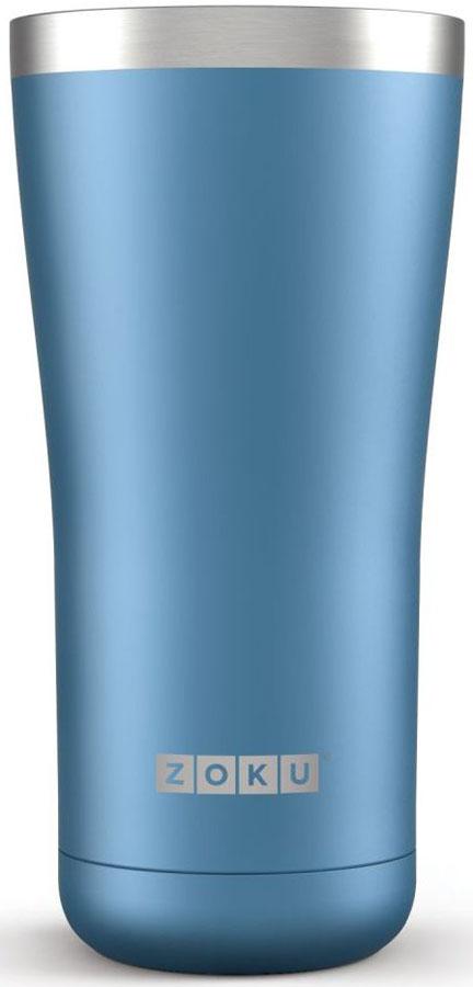 Термокружка Zoku Hydration, цвет: синий, 550 млZK144-BLДвойные вакуумные стенкиВакуум и толстые стенки из нержавеющей стали поддерживают температуру горячих напитков до 6, а холодных – до 24 часов, поэтому любимые напитки всегда будут доступны в течение дня. При этом кружку можно спокойно держать в руках без риска обжечься. Крышка 3-в-13 положения крышки гарантируют вам максимальный комфорт, независимо от того, где вы находитесь – дома, в офисе или где-то в дороге на улице. Поверните крышку против часовой стрелки, чтобы пить небольшими глотками из отверстия, или по часовой стрелке, чтобы наслаждаться лимонадом через трубочку по пути на работу. В среднем положении крышка полностью закрыта.Открывается одним движениемКрышка защищает напитки от пыли и различных загрязнений, а чтобы вытащить её из термокружки, например, при мытье не нужно крутить, поворачивать или с силой выдергивать – просто потяните за язычок вверх. Стильный дизайнПривлекательный внешний вид, насыщенные цвета и качественные материалы делают эту термокружку идеальным компаньоном для активных и следящих за своим здоровьем людей. Она подчеркнет ваш имидж и добавит ему ярких акцентов. Нержавеющая сталь Высокое качество нержавеющей стали 18/8 делает термокружку особенно прочной: она устойчива к коррозии, не разрушается и не впитывает запахи. Кружка будет служить долго и не потребует замены деталей. Используемая сталь полностью пригодна для пищевых продуктов, не содержит фталатов и бисфенола-А. Объем термокружки – 550 мл. Моется вручную.