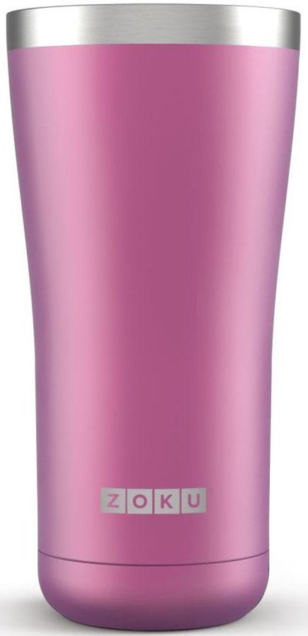 Термокружка Zoku Hydration, цвет: фиолетовый, 550 млZK144-PUДвойные вакуумные стенкиВакуум и толстые стенки из нержавеющей стали поддерживают температуру горячих напитков до 6, а холодных – до 24 часов, поэтому любимые напитки всегда будут доступны в течение дня. При этом кружку можно спокойно держать в руках без риска обжечься. Крышка 3-в-13 положения крышки гарантируют вам максимальный комфорт, независимо от того, где вы находитесь – дома, в офисе или где-то в дороге на улице. Поверните крышку против часовой стрелки, чтобы пить небольшими глотками из отверстия, или по часовой стрелке, чтобы наслаждаться лимонадом через трубочку по пути на работу. В среднем положении крышка полностью закрыта.Открывается одним движениемКрышка защищает напитки от пыли и различных загрязнений, а чтобы вытащить её из термокружки, например, при мытье не нужно крутить, поворачивать или с силой выдергивать – просто потяните за язычок вверх. Стильный дизайнПривлекательный внешний вид, насыщенные цвета и качественные материалы делают эту термокружку идеальным компаньоном для активных и следящих за своим здоровьем людей. Она подчеркнет ваш имидж и добавит ему ярких акцентов. Нержавеющая сталь Высокое качество нержавеющей стали 18/8 делает термокружку особенно прочной: она устойчива к коррозии, не разрушается и не впитывает запахи. Кружка будет служить долго и не потребует замены деталей. Используемая сталь полностью пригодна для пищевых продуктов, не содержит фталатов и бисфенола-А. Объем термокружки – 550 мл. Моется вручную.