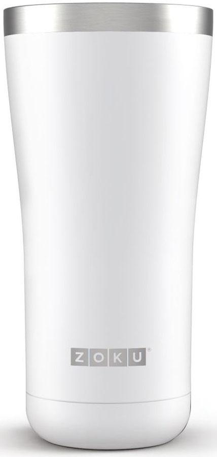 Термокружка Zoku Hydration, цвет: белый, 550 млZK144-WTВакуум и толстые вакуумные стенки из нержавеющей стали поддерживают температуру горячих напитков до 6, а холодных - до 24 часов, поэтому любимые напитки всегда будут доступны в течение дня. При этом кружку можно спокойно держать в руках, без риска обжечься.Крышка 3-в-1 3 положения крышки гарантируют вам максимальный комфорт независимо от того, где вы находитесь - дома, в офисе или где-то в дороге на улице. Поверните крышку против часовой стрелки, чтобы пить небольшими глотками из отверстия, или по часовой стрелке, чтобы наслаждаться лимонадом через трубочку по пути на работу. В среднем положении крышка полностью закрыта. Открывается одним движением Крышка защищает напитки от пыли и различных загрязнений, а чтобы вытащить её из термокружки, например, при мытье не нужно крутить, поворачивать или с силой выдергивать - просто потяните за язычок вверх. Стильный дизайн Привлекательный внешний вид, насыщенные цвета и качественные материалы делают эту термокружку идеальным компаньоном для активных и следящих за своим здоровьем людей. Она подчеркнет ваш имидж и добавит ему ярких акцентов.Нержавеющая сталь Высокое качество нержавеющей стали 18/8 делает термокружку особенно прочной: она устойчива к коррозии, не разрушается и не впитывает запахи. Кружка будет служить долго и не потребует замены деталей. Используемая сталь полностью пригодна для пищевых продуктов, не содержит фталатов и бисфенола-А. Объем термокружки – 550 мл. Моется вручную.