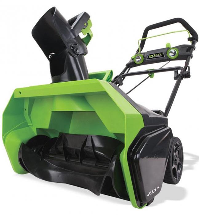Снегоуборщик аккумуляторный Greenworks 40V, 51 см, бесщеточный - Садовая техника