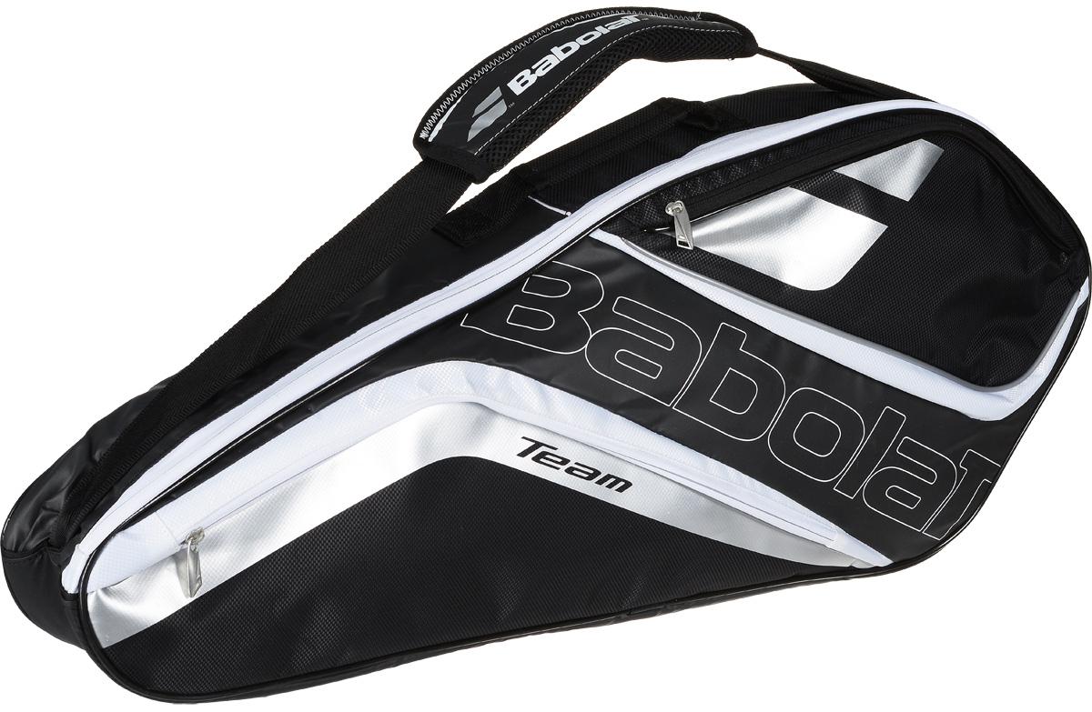 Чехол для теннисных ракеток Babolat  Raket Holder Team Line , на 3 ракетки, цвет: серый - Теннис