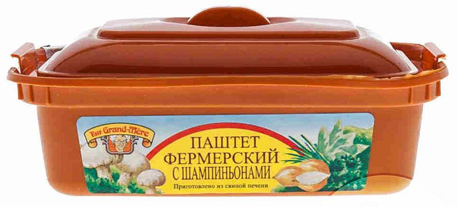 """Pate Gran-Mere Паштет фермерский с шампиньонами, 150 г7128Паштеты мясные, т. е. в рецептуре доля мясных ингредиентов 60-80 %,в состав которых входят такие специи, как имбирь, мускатный орех, шалфей, корица, куркума, мандарин и др. Grand mere – это торговая марка бельгийского завода """"Polka N. V. """", котораяизвестна на российском рынке с 1993г. как «Бабушкин паштет». С 2005г. паштетвыпускается в России. Для производства паштета Гран-Мэр используется отборное сырье, самоевысокотехнологичное оборудование, отвечающее всем требованиям европейской пищевойиндустрии, проводится строгий лабораторный контроль на всех стадиях производства.Уважаемые клиенты! Обращаем ваше внимание на то, что упаковка может иметь несколько видов дизайна. Поставка осуществляется в зависимости от наличия на складе."""