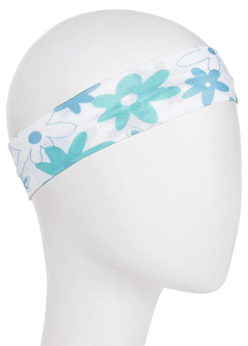 Повязка для волос Mitya Veselkov Ромашки, цвет: голубой. 442506-1 riffi повязка для волос цвет коралловый