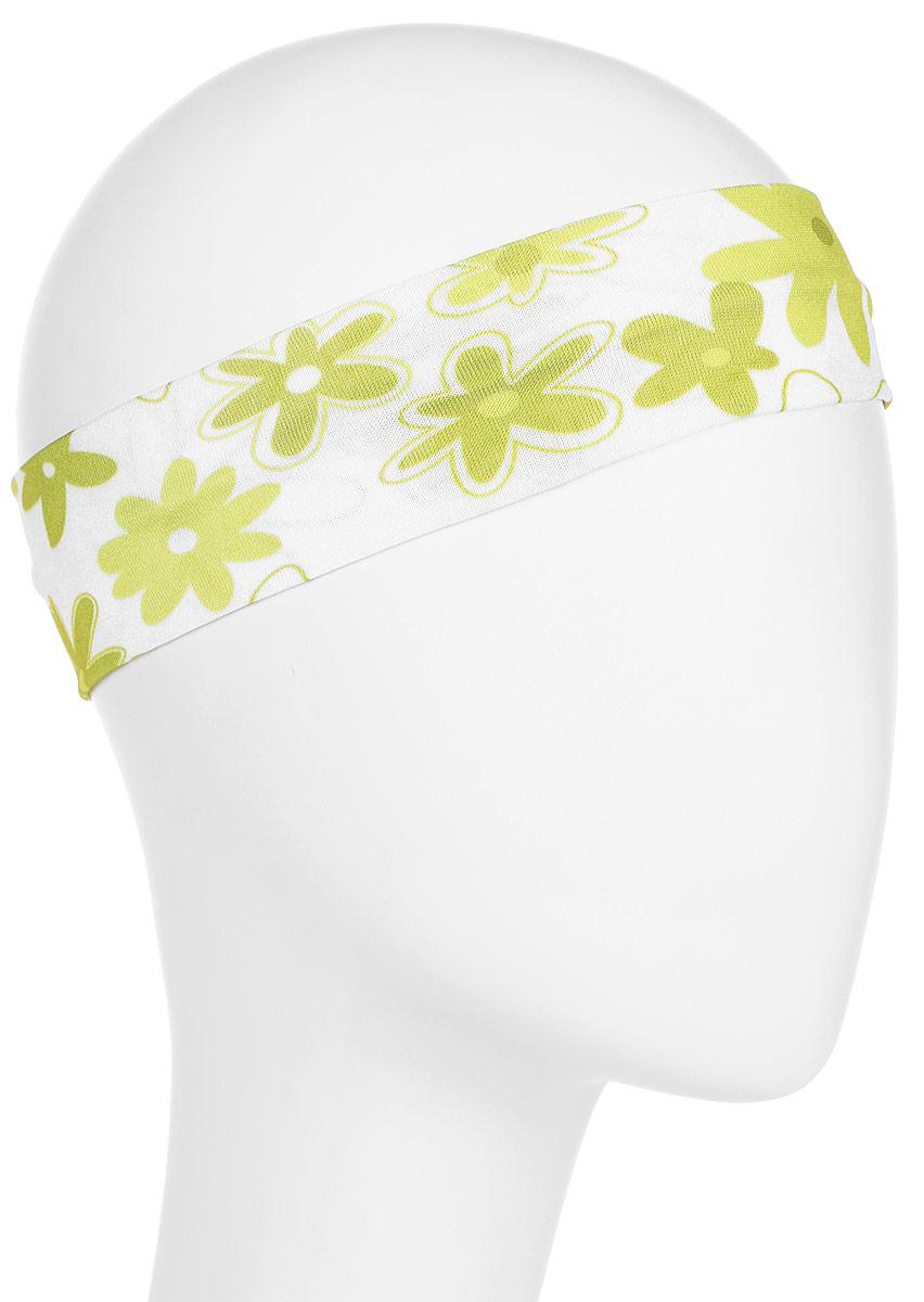 Повязка для волос Mitya Veselkov Ромашки, цвет: зеленый. 442506-2442506-2Стильная женская повязка Mitya Veselkov изготовлена из текстиля. Симпатичный аксессуар защитит голову от яркого солнца или возьмет на себя функцию ободка. Повязка не сдавливает голову и превосходно тянется.