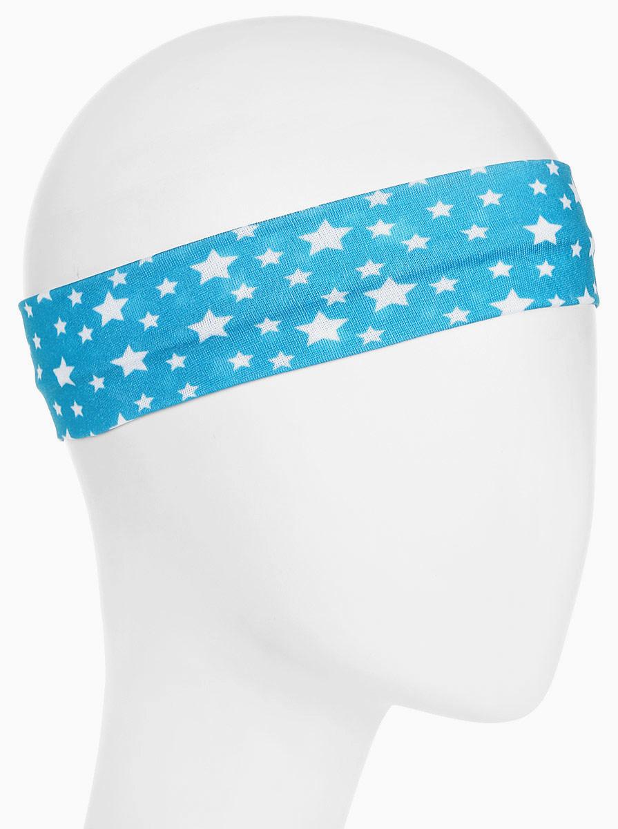 Повязка для волос Mitya Veselkov Звездочки, цвет: голубой. 18196251819625Стильная женская повязка Mitya Veselkov изготовлена из текстиля. Симпатичный аксессуар защитит голову от яркого солнца или возьмет на себя функцию ободка. Повязка не сдавливает голову и превосходно тянется.