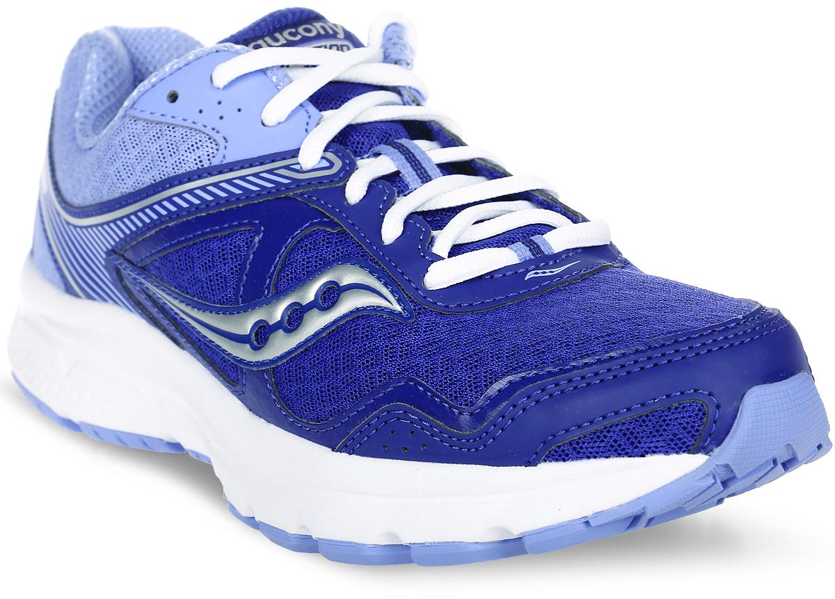 Кроссовки женские Saucony Cohesion 10, цвет: синий, сиреневый. S15333-8. Размер 9,5 (40,5)S15333-8Стильные женские кроссовки Saucony отлично подойдут для активного отдыха и повседневной носки. Верх модели выполнен из текстиля и полиуретана. Удобная шнуровка надежно фиксирует модель на стопе. Новая версия универсальной беговой модели отлично подойдет для асфальтового покрытия. Кроссовки рассчитаны на нейтральную пронацию стопы. Технология GRID обеспечивает отличную амортизацию и поддержку стопы во время бега. Сетчатый верх гарантирует комфорт и воздухопроницаемость. Подошва с рифлением обеспечивает легкость, естественную свободу движений и отличное сцепление на любой поверхности. Стелька и внутренняя поверхность из текстиля комфортны при движении. Мягкие и удобные, кроссовки превосходно подчеркнут ваш спортивный образ и подарят комфорт.
