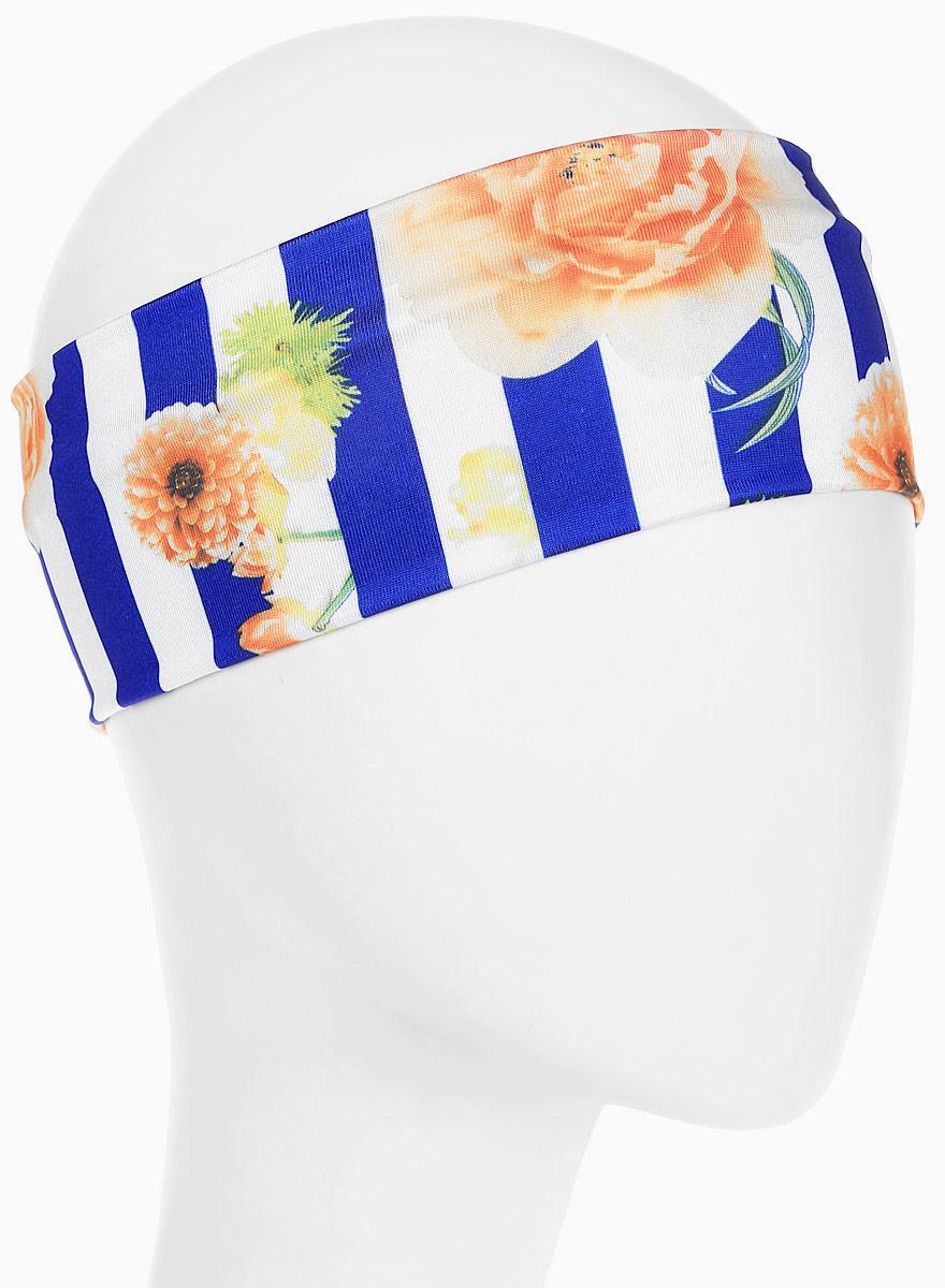 Повязка для волос Mitya Veselkov Шарм, цвет: синий. 1636617-11636617-1Стильная женская повязка Mitya Veselkov изготовлена из текстиля. Симпатичный аксессуар защитит голову от яркого солнца или возьмет на себя функцию ободка. Повязка не сдавливает голову и превосходно тянется.