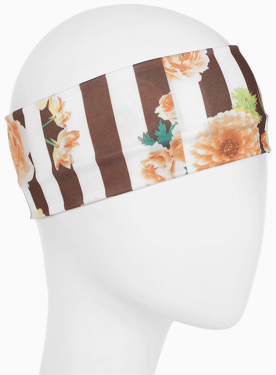Повязка для волос Mitya Veselkov Шарм, цвет: коричневый. 1636617-51636617-5Стильная женская повязка Mitya Veselkov изготовлена из текстиля. Симпатичный аксессуар защитит голову от яркого солнца или возьмет на себя функцию ободка. Повязка не сдавливает голову и превосходно тянется.