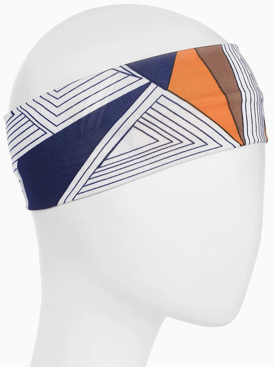 Повязка для волос Mitya Veselkov Шарм, цвет: геометрия. 16366231636623Стильная женская повязка Mitya Veselkov изготовлена из текстиля. Симпатичный аксессуар защитит голову от яркого солнца или возьмет на себя функцию ободка. Повязка не сдавливает голову и превосходно тянется.