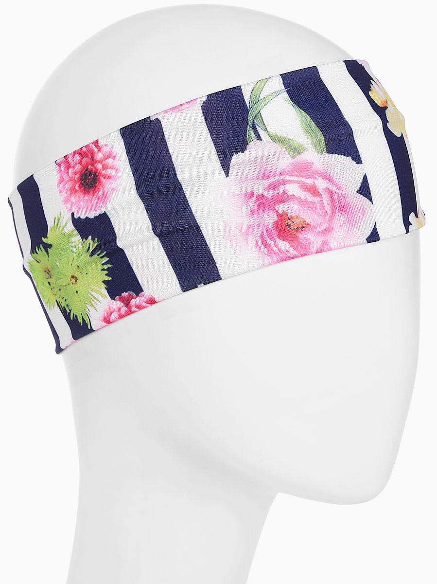 Повязка для волос Mitya Veselkov Шарм, цвет: темно-синий. 16366171636617Стильная женская повязка Mitya Veselkov изготовлена из текстиля. Симпатичный аксессуар защитит голову от яркого солнца или возьмет на себя функцию ободка. Повязка не сдавливает голову и превосходно тянется.