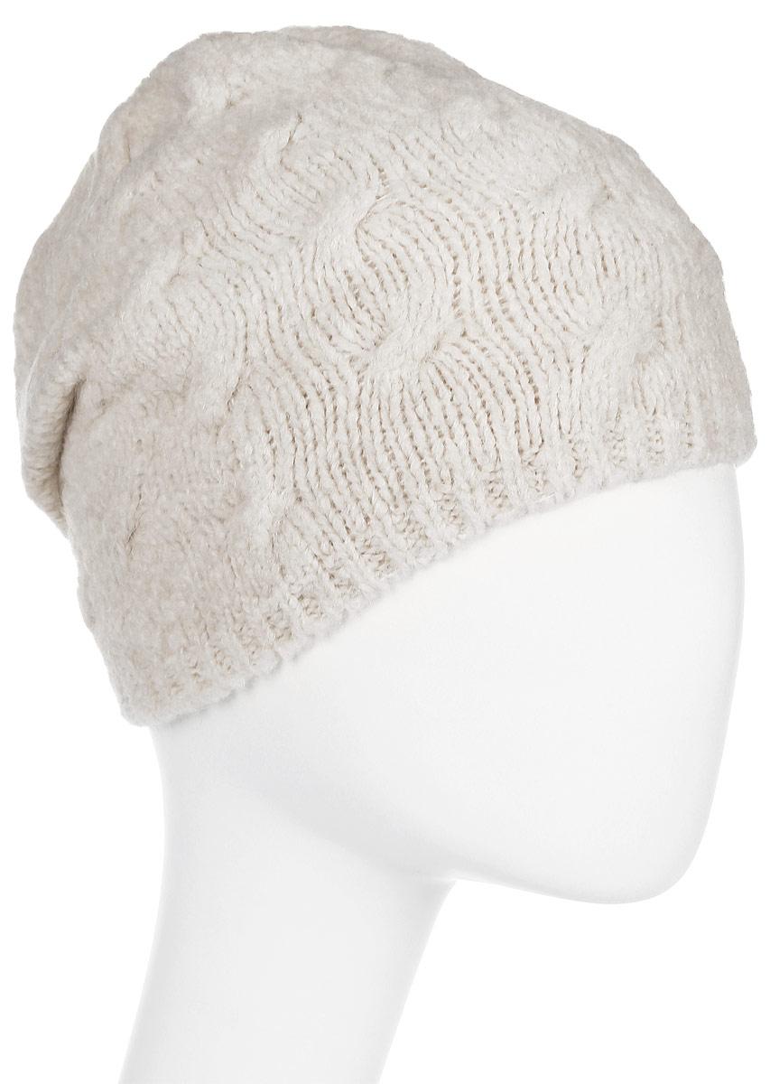 Шапка женская Snezhna, цвет: светло-бежевый. SWH7131/2. Размер 56/58SWH7131/2Стильная шапка Snezhna, выполнена из высококачественной пряжи. Модель очень актуальна для тех, кто ценит комфорт, стиль и красоту. Отличный вариант на каждый день.Уважаемые клиенты!Размер, доступный для заказа, является обхватом головы.
