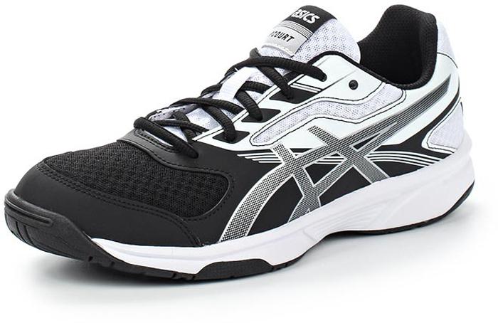 Кроссовки для волейбола женские Asics Upcourt 2, цвет: черный, серебристый, белый. B755Y-9093. Размер 7H (37,5)B755Y-9093