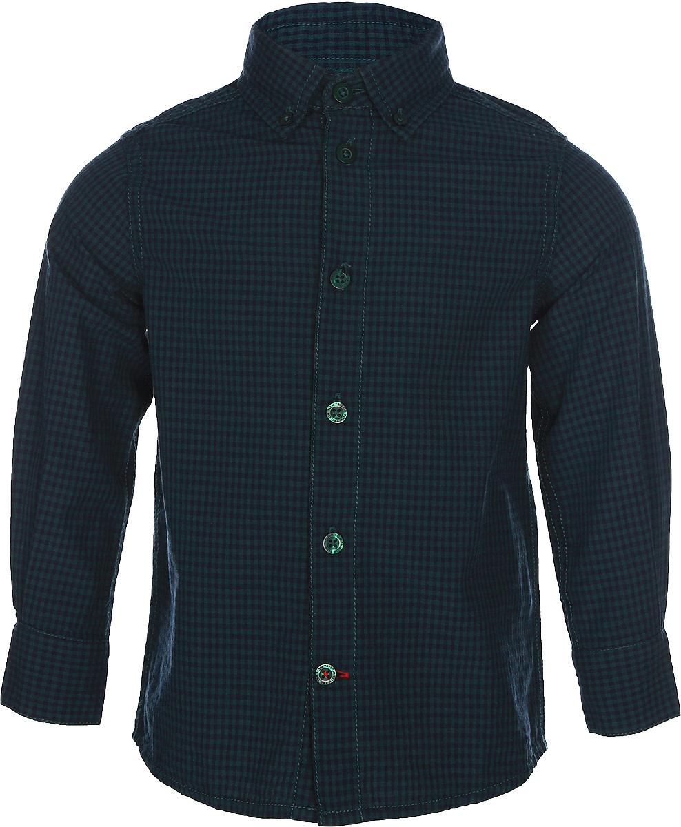 Рубашка для мальчиков Tom Tailor, цвет: зеленый. 2033684.00.82_7619. Размер 92/982033684.00.82_7619