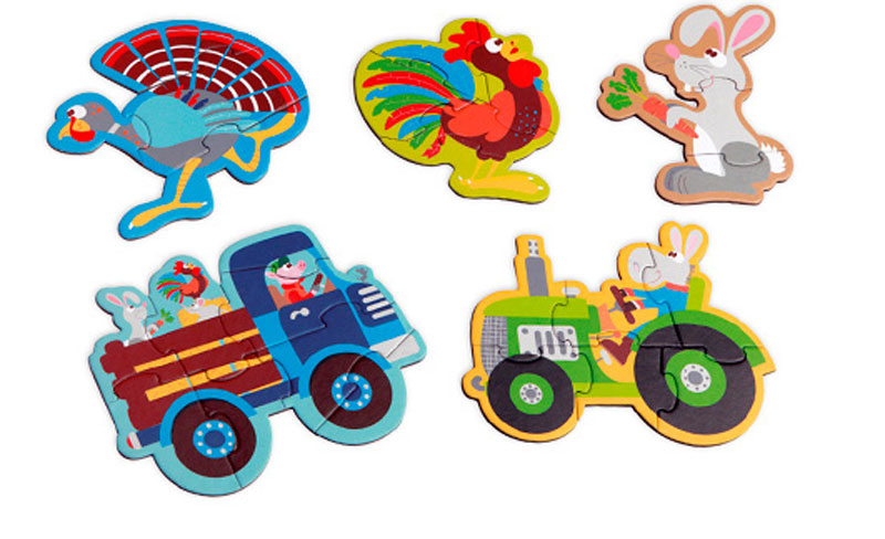 Scratch Пазл для малышей Starterpuzzle Ферма испанский для самых маленьких