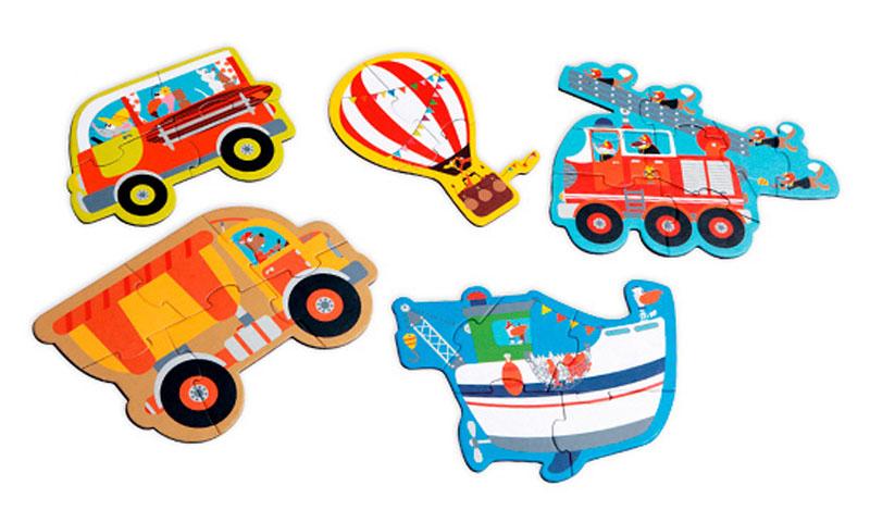 Scratch Пазл для малышей Starterpuzzle Транспорт испанский для самых маленьких