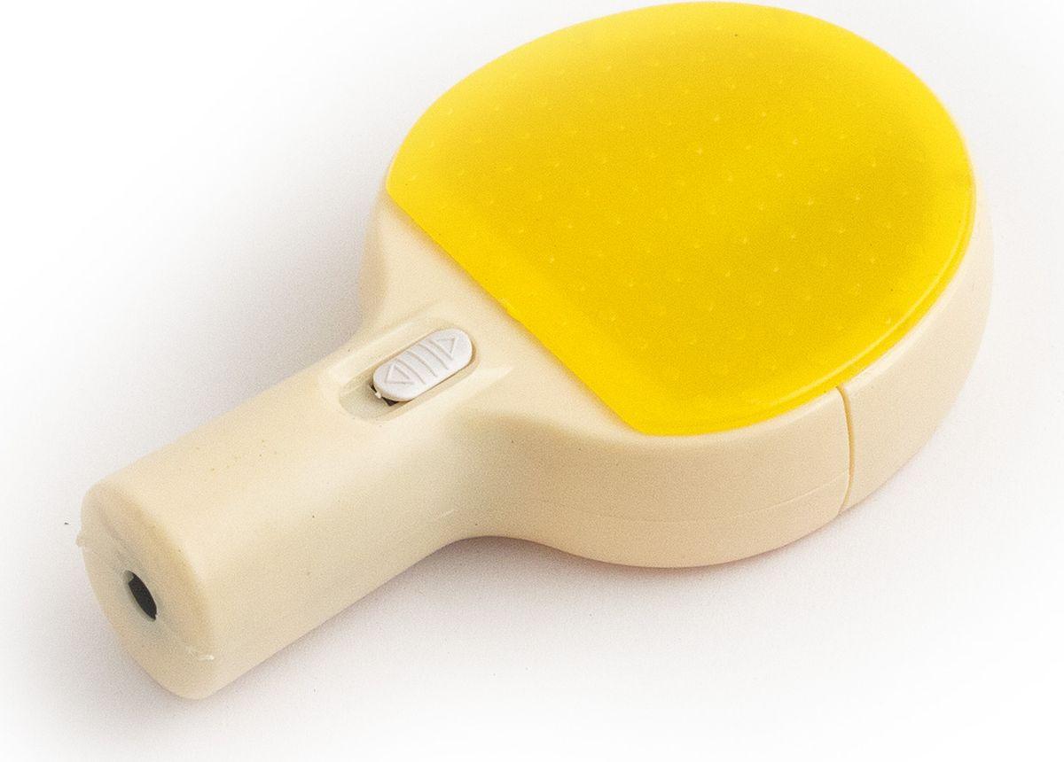 Эврика Точилка Ракетка цвет желтый91841Точилка в виде ракетки с секретом! В корпус встроен светодиодный микропроектор!